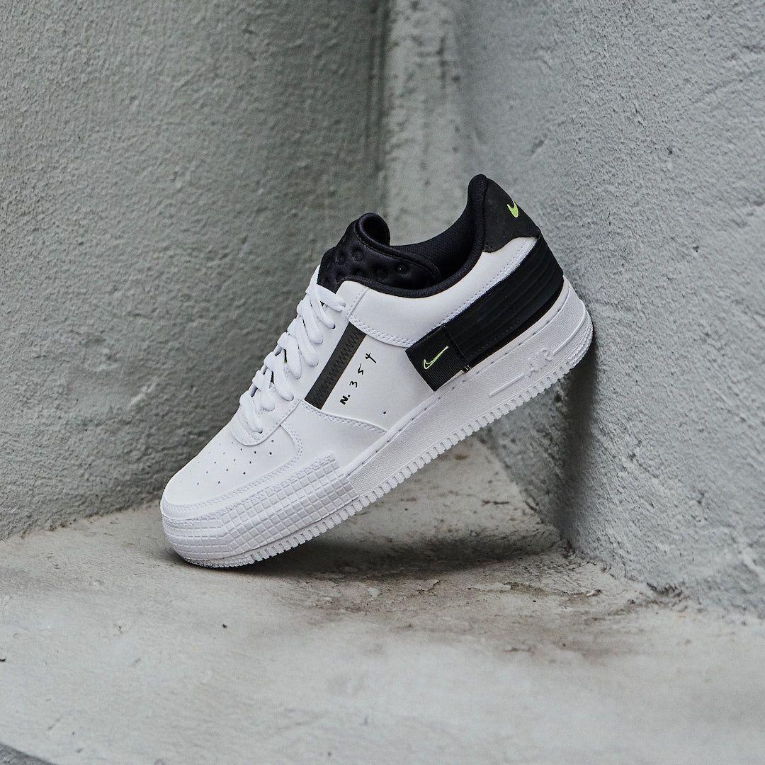 Leer Viajero jefe  Nike Air Force 1 Low Drop Type White Black Volt - AT7859-101 - Wethenew