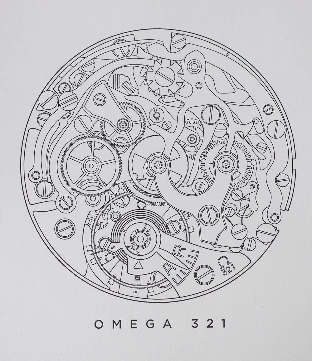 Omega 321 Letterpress Print
