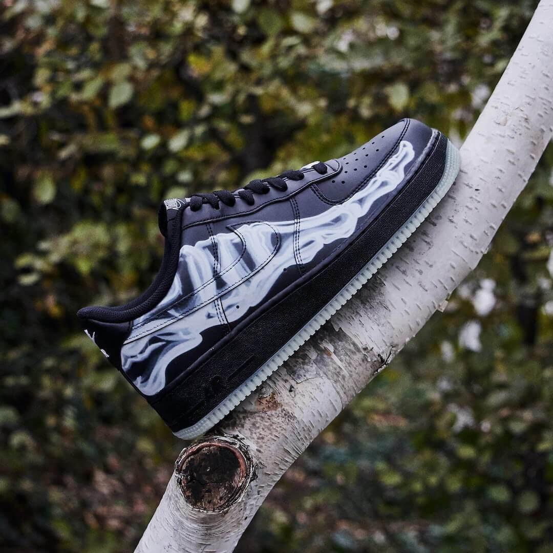 Nike Air Force 1 Low Black Skeleton Halloween (2019)