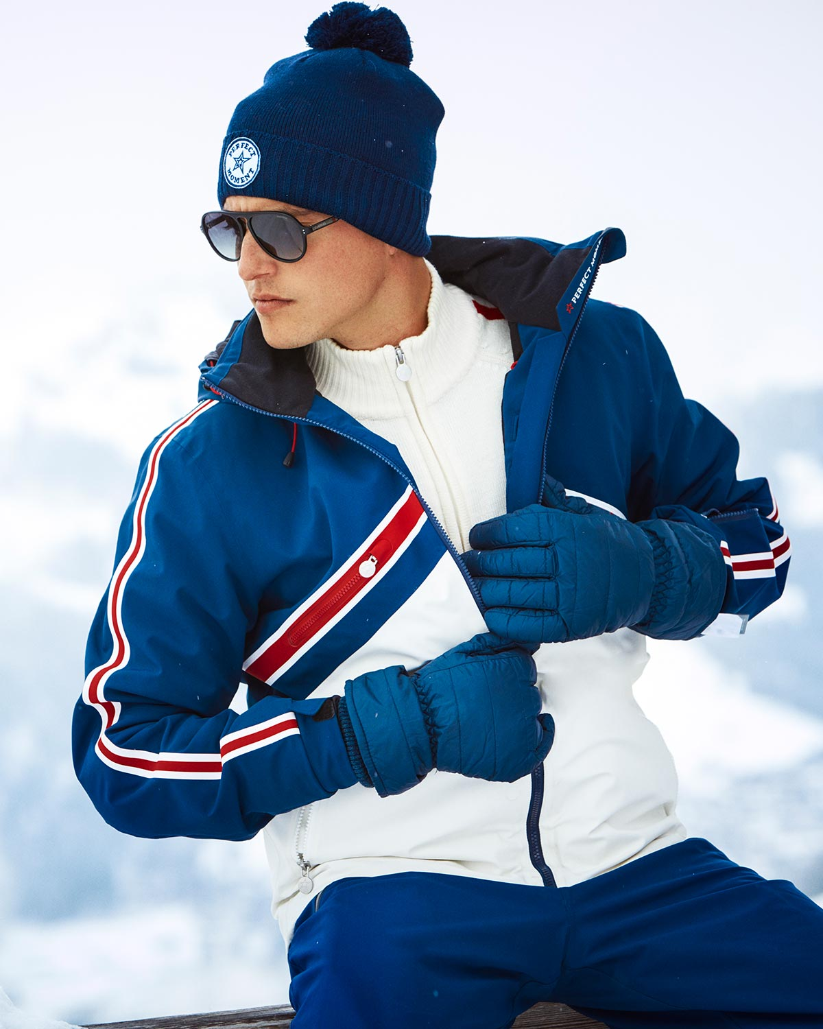 Men's Chevron Colour Block Ski Jacket Sale