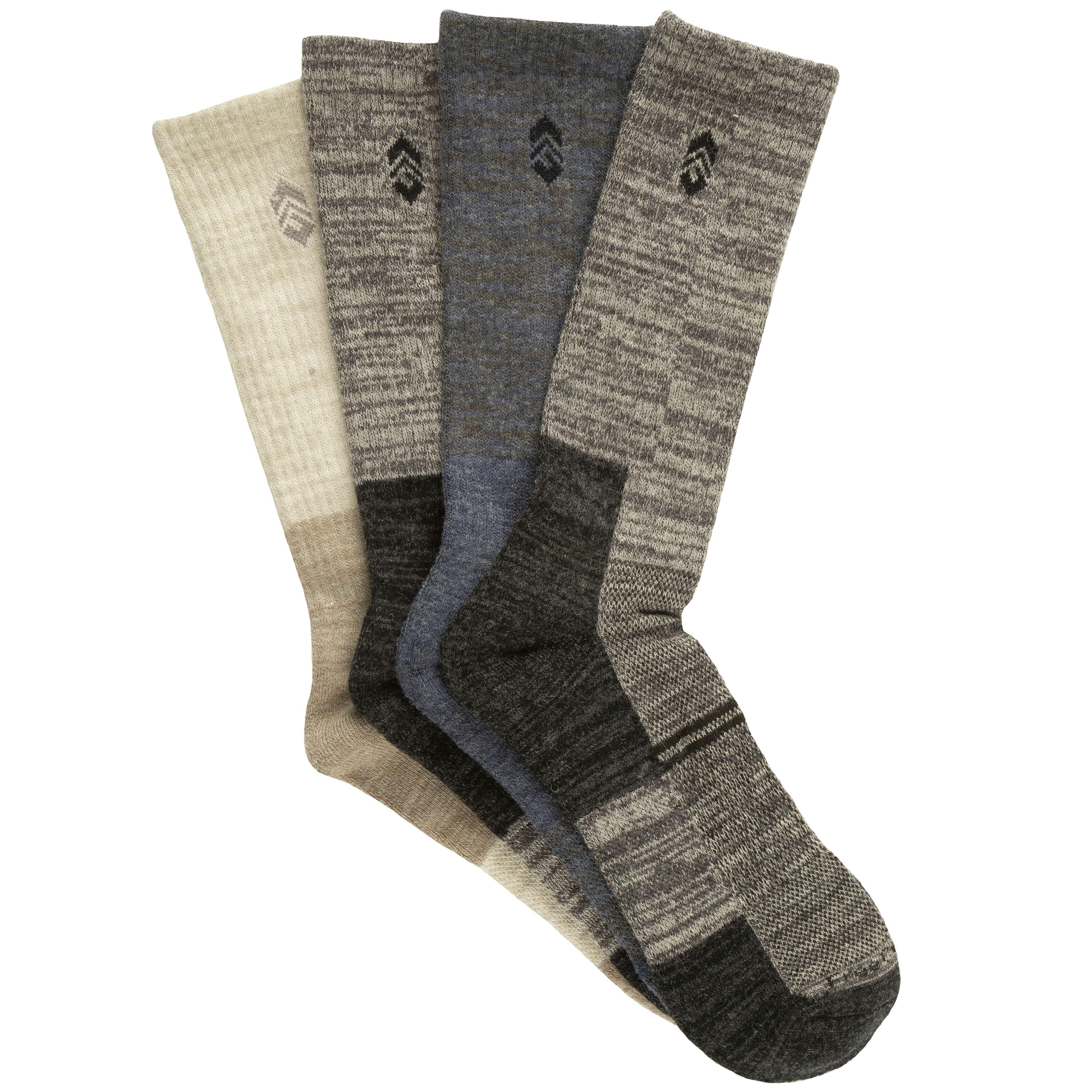 Men's Wool-Blend Marled Wardrobe Crew Socks