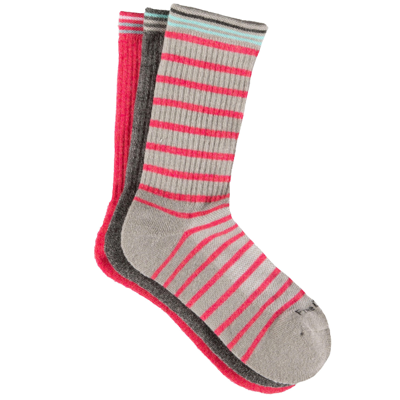 Women's Wool-Blend Stripe Basic Crew Socks