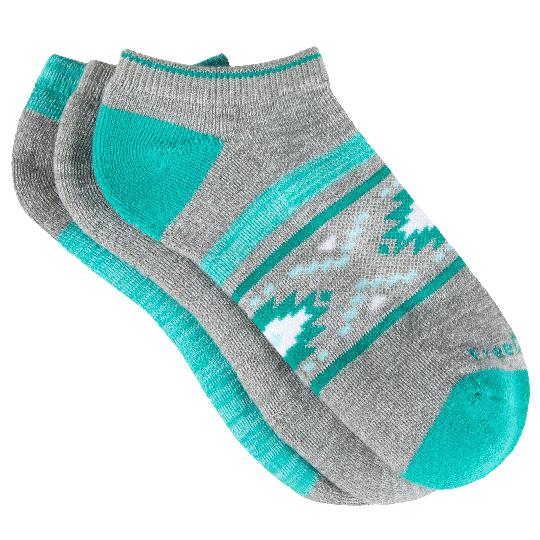 Women's Poly-Blend Aztec Marl No-Show Socks