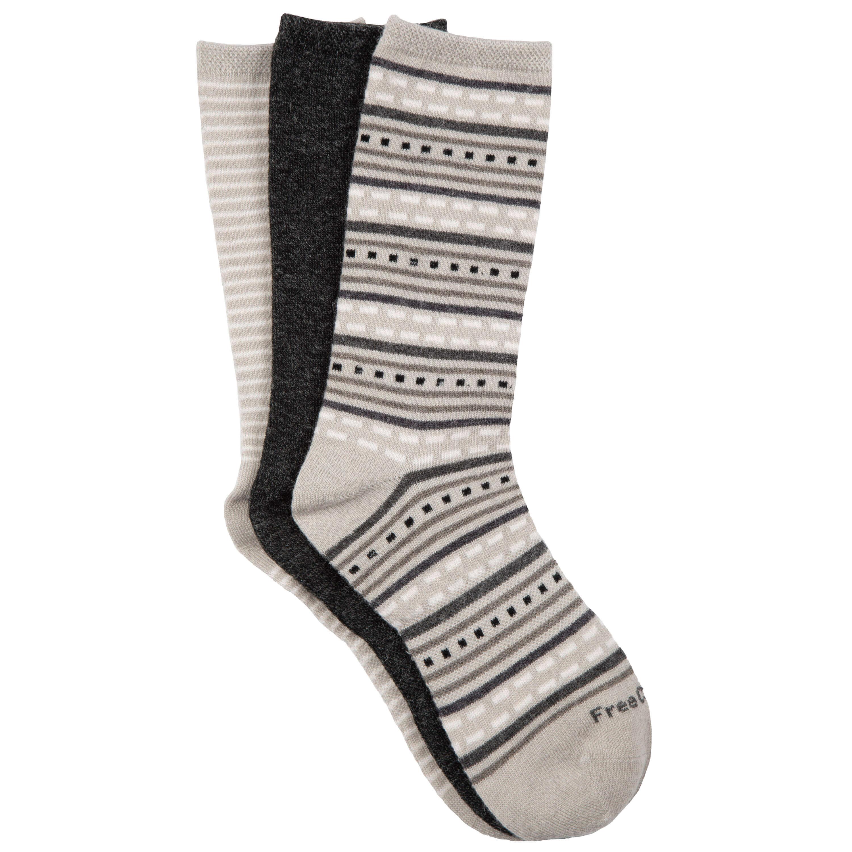 Women's Wool-Blend Striped Crew Socks