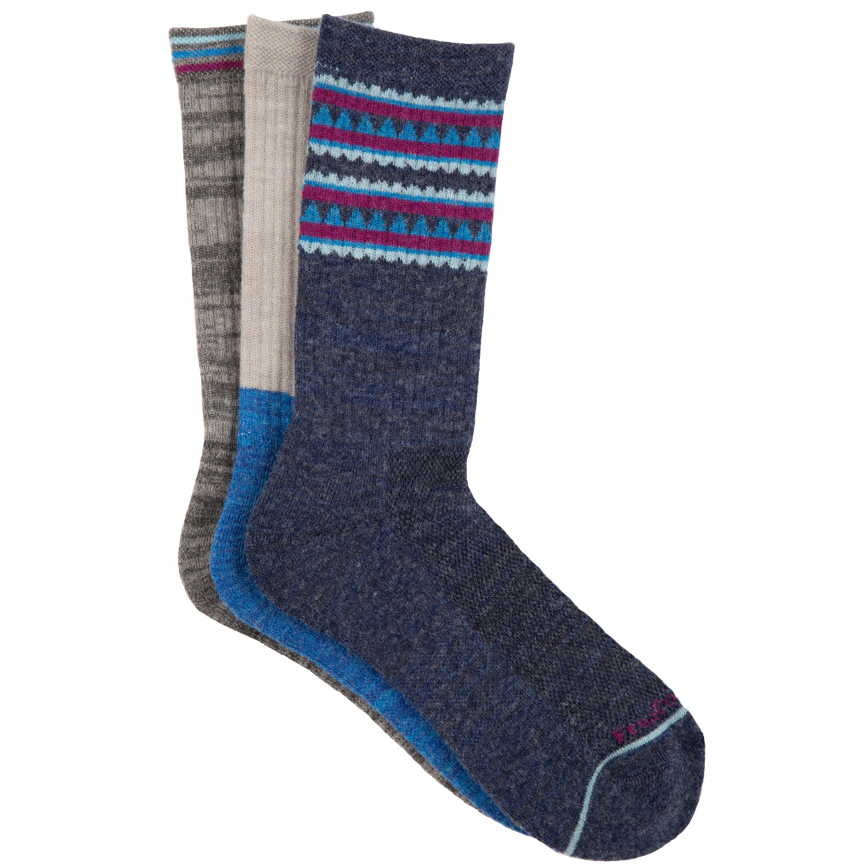 Women's Wool-Blend Aztec Stripe Crew Socks
