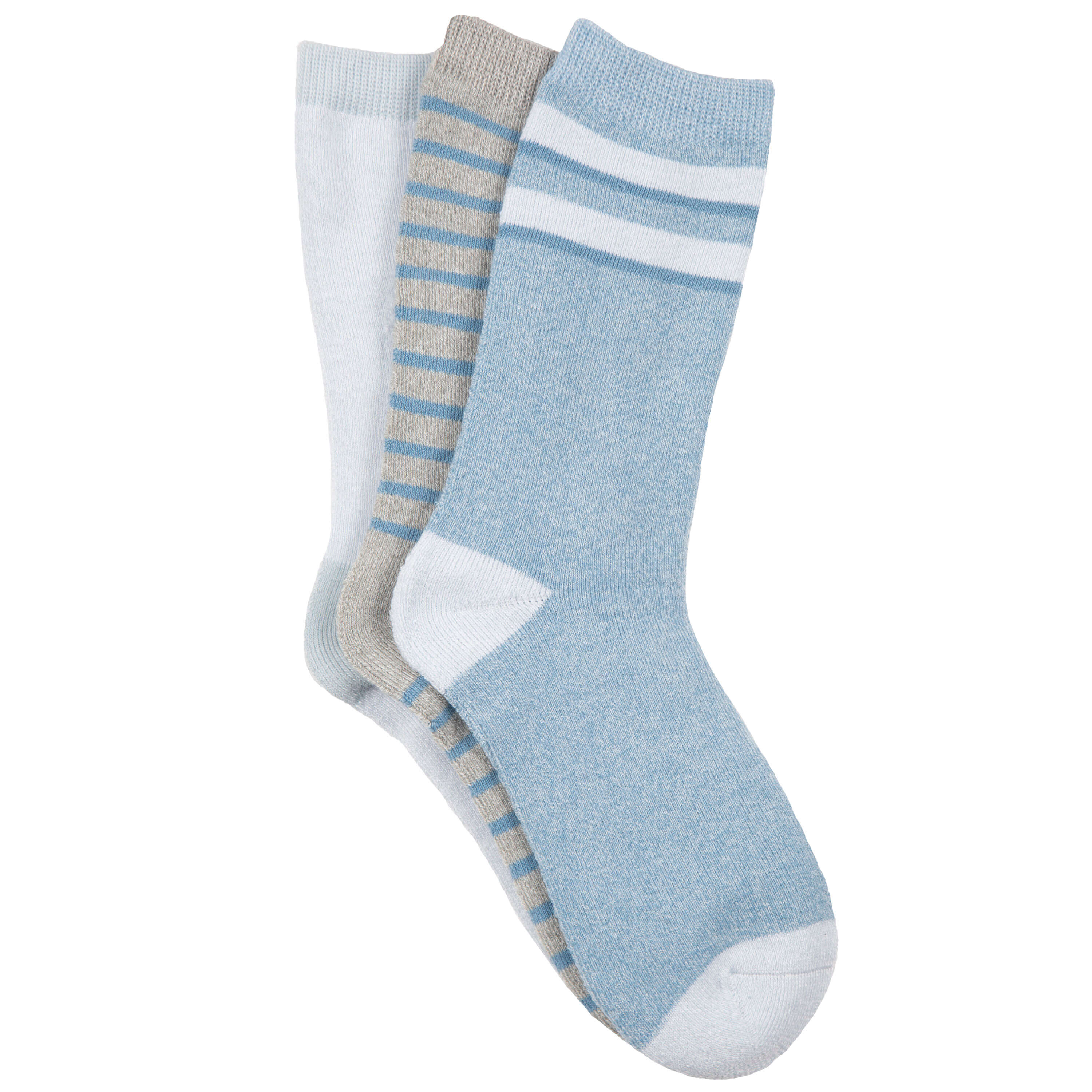 Women's Varsity Stripe Full Terry Crew Socks
