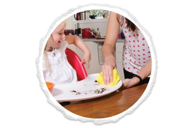 a clean high chair in seconds