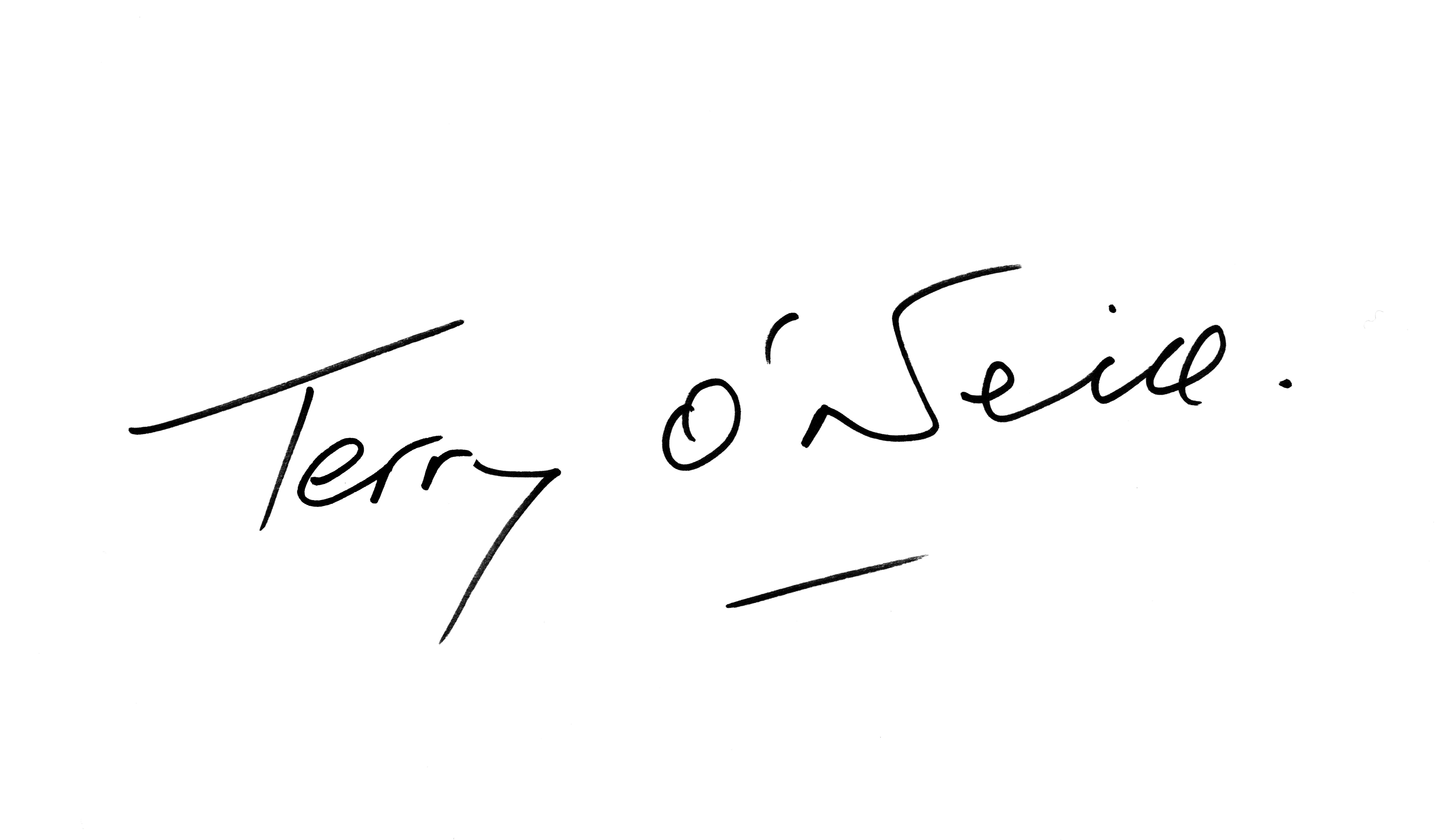 Signature Terry O'Neill
