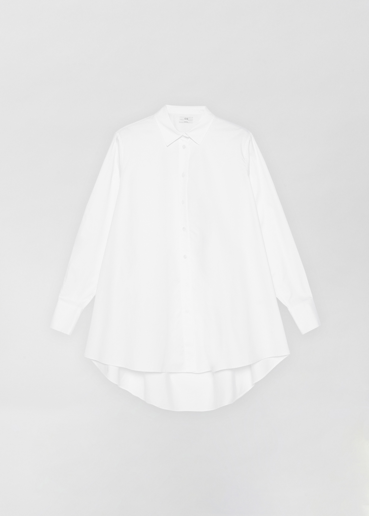 A-Line Button Down Shirt - White - Co Collections