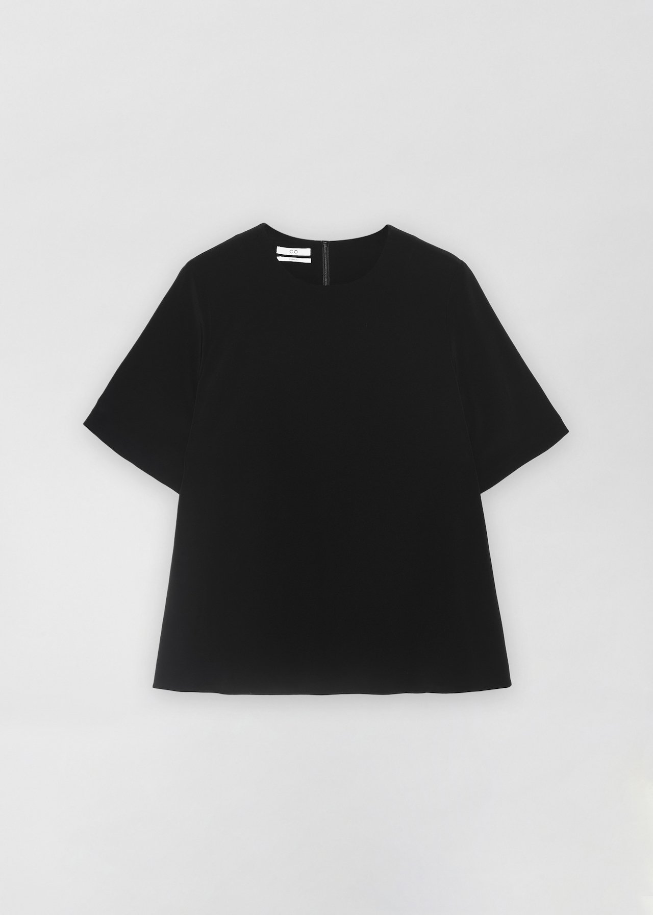 Crepe T-Shirt - Black - Co Collections