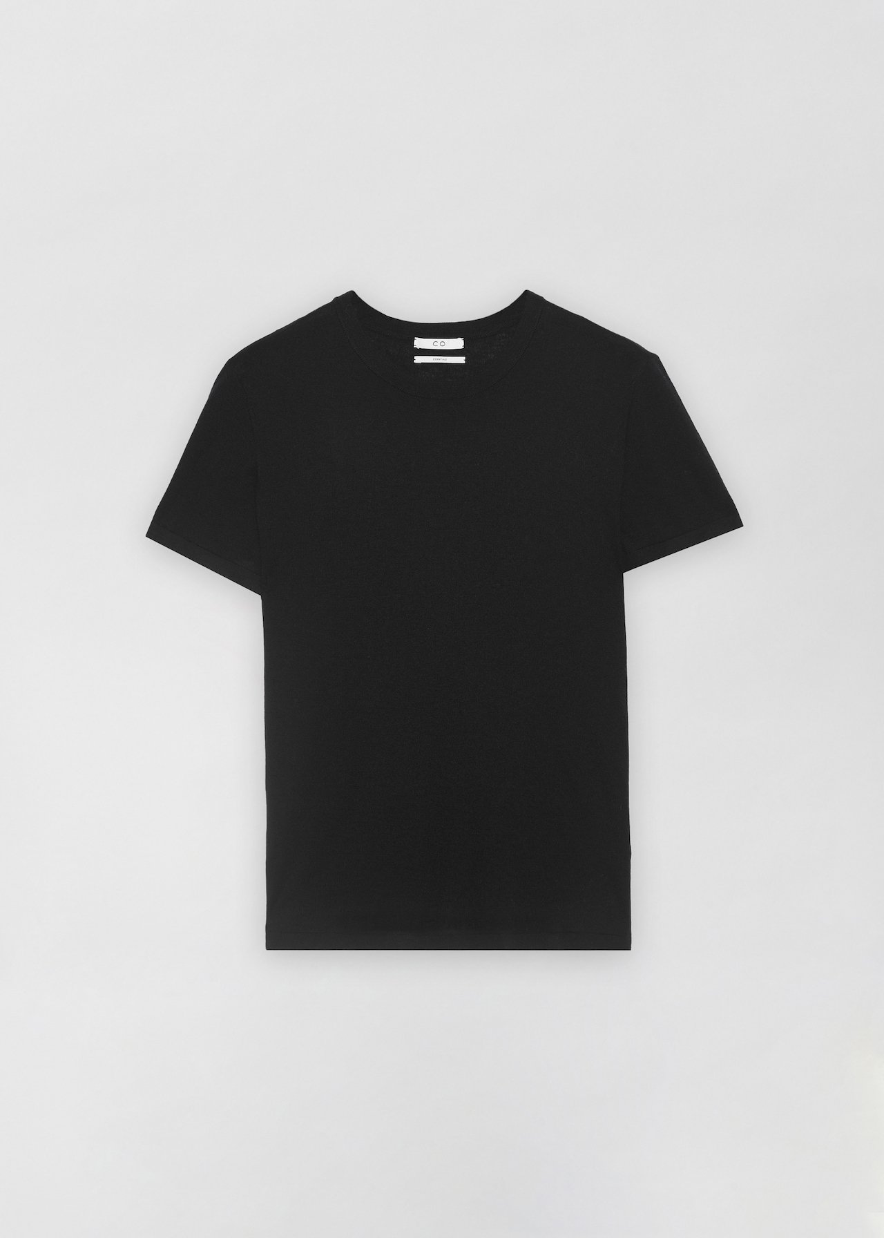 Cashmere T-Shirt - Taupe in Black by Co Collections