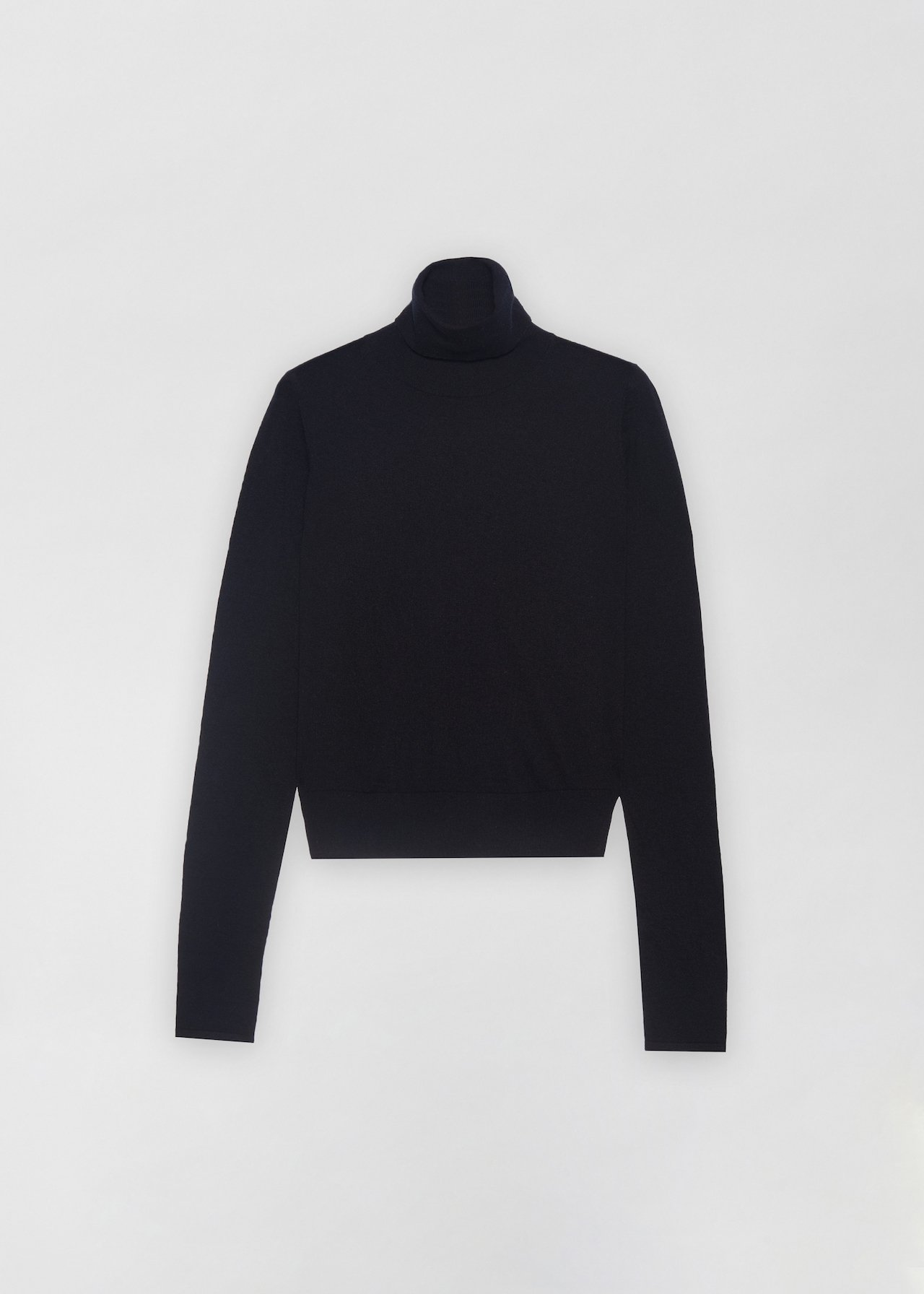 Fitted Cashmere Turtleneck - Black - CO
