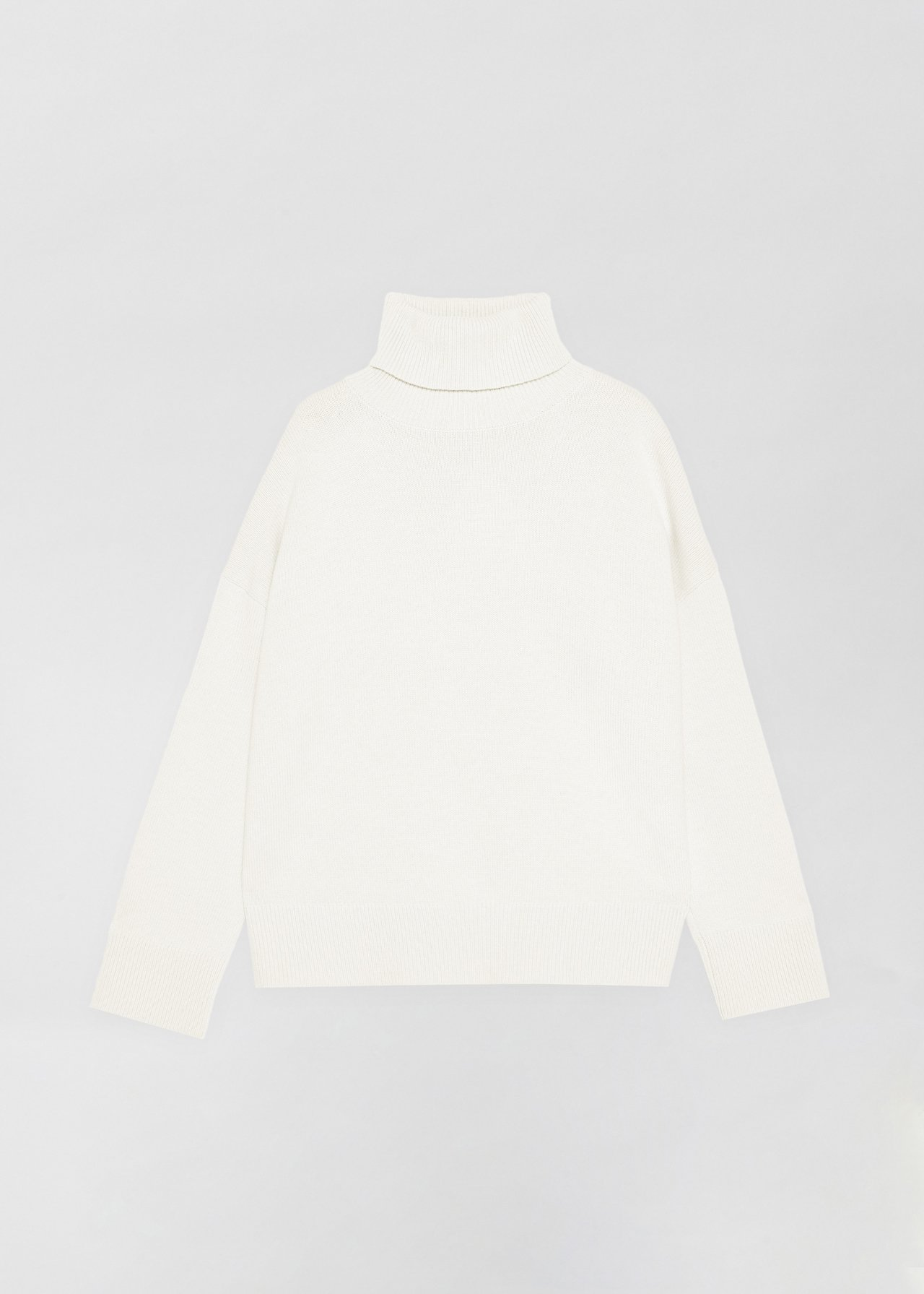 Boxy Turtleneck Sweater - Grey in Ivory by Co Collections