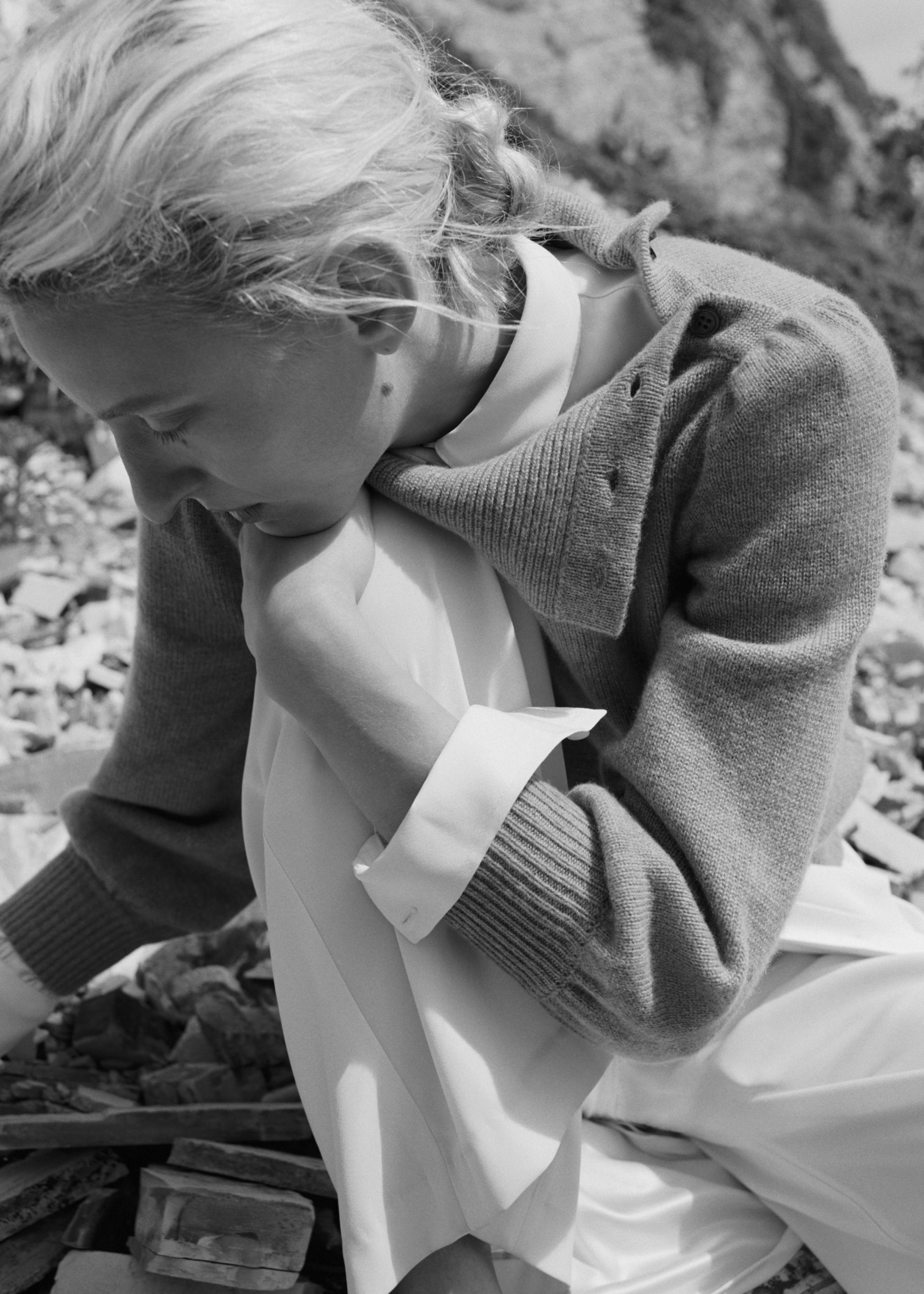 Button Shoulder Sweater - by Zoe Gherter for Co Collections