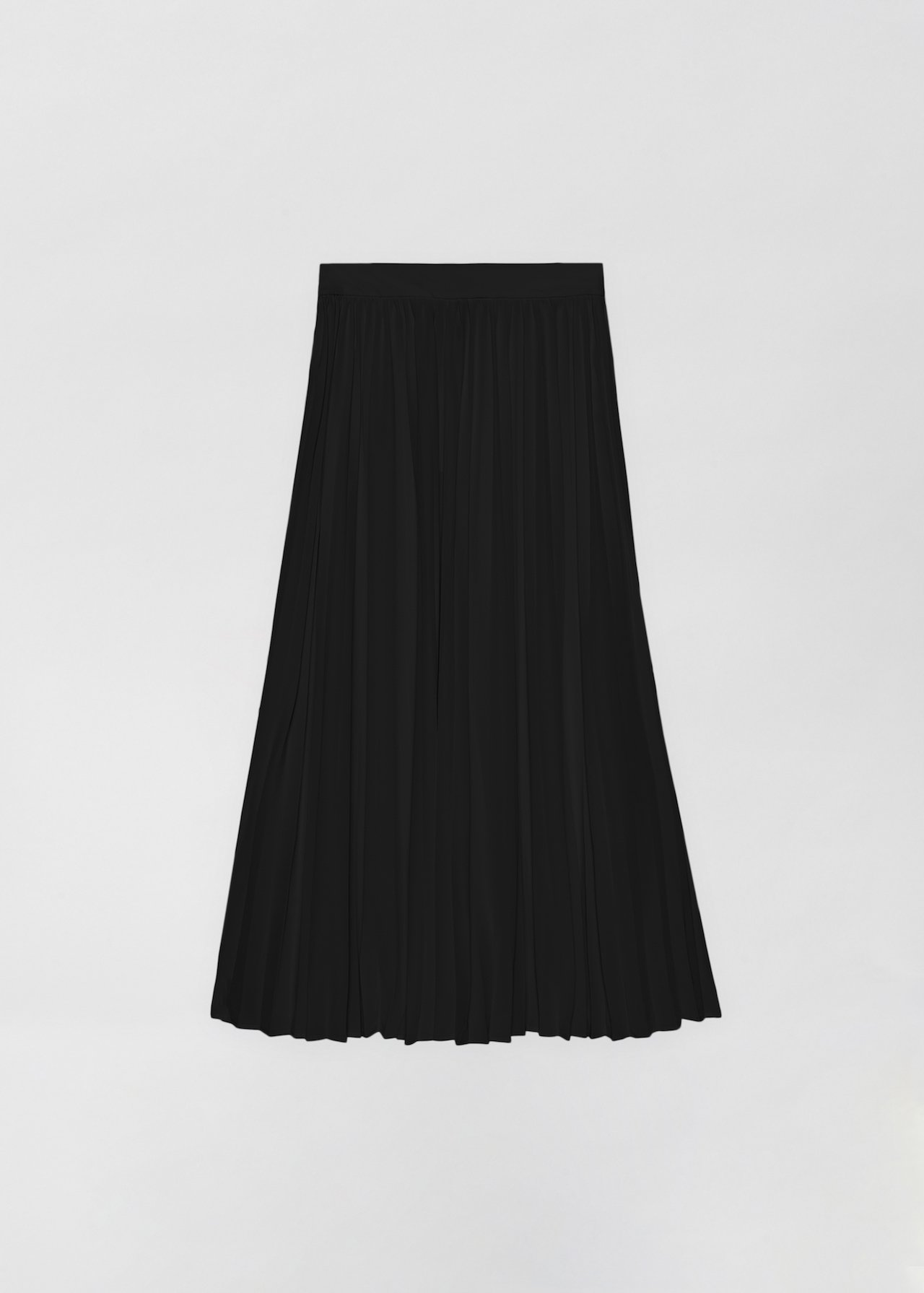 Pleated Skirt - Ivory in Black by Co Collections