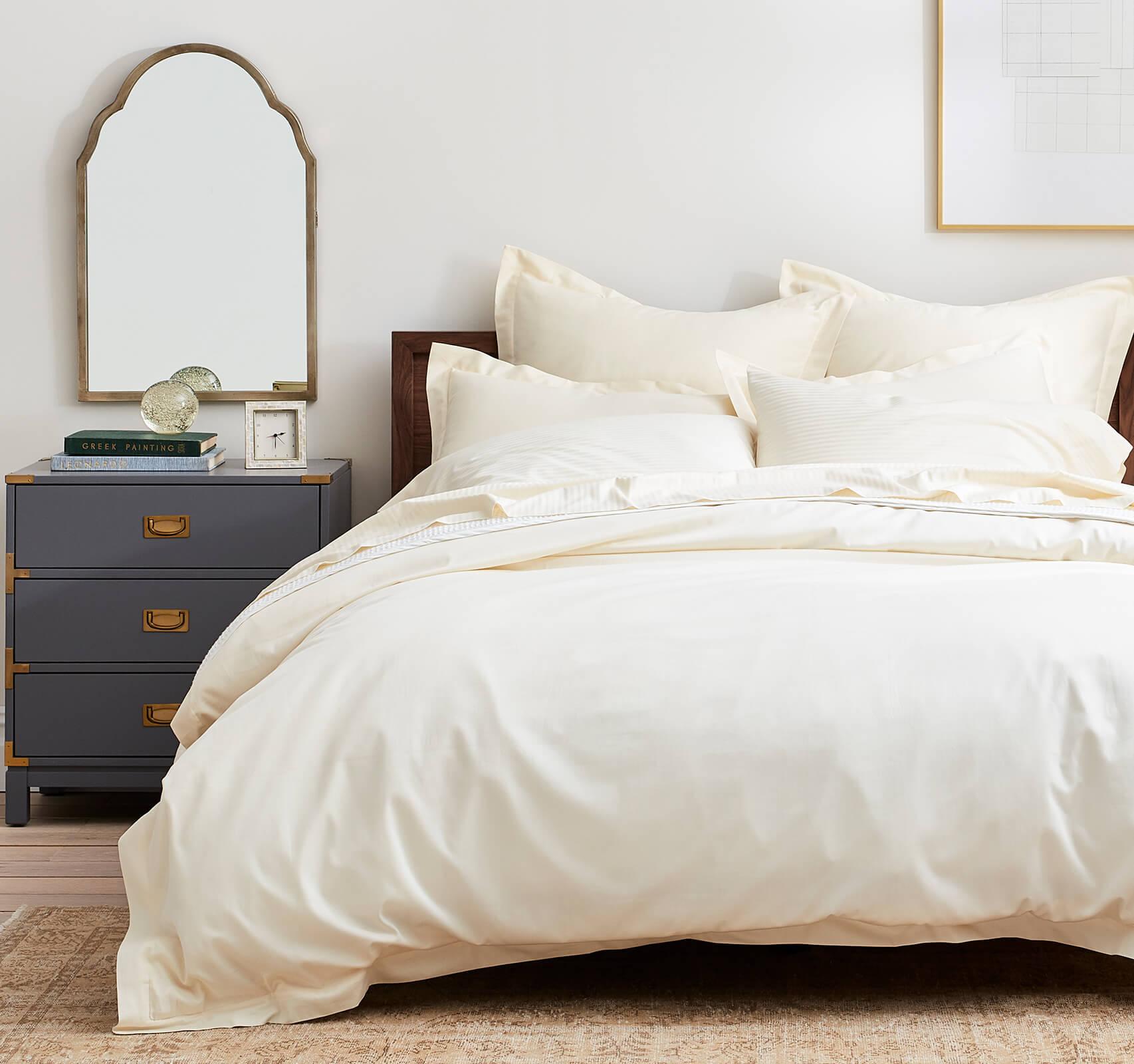 Ivory Transitional Bedroom header image