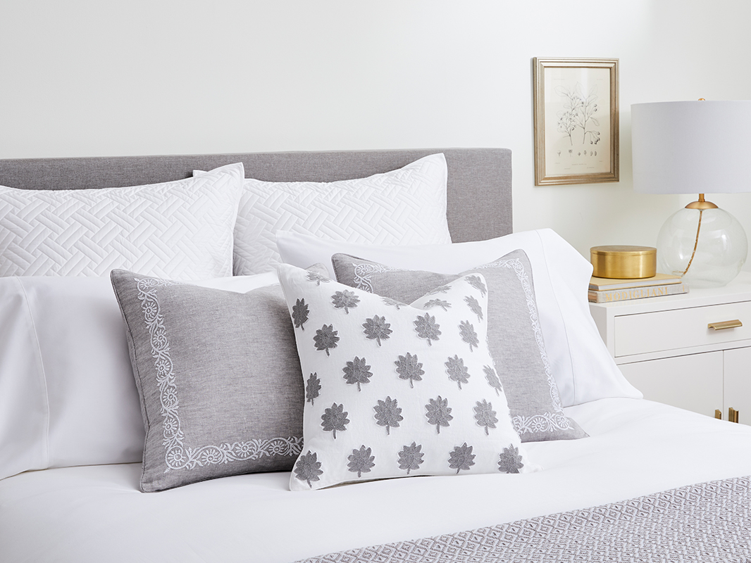 Bed with Decorative Pillows image