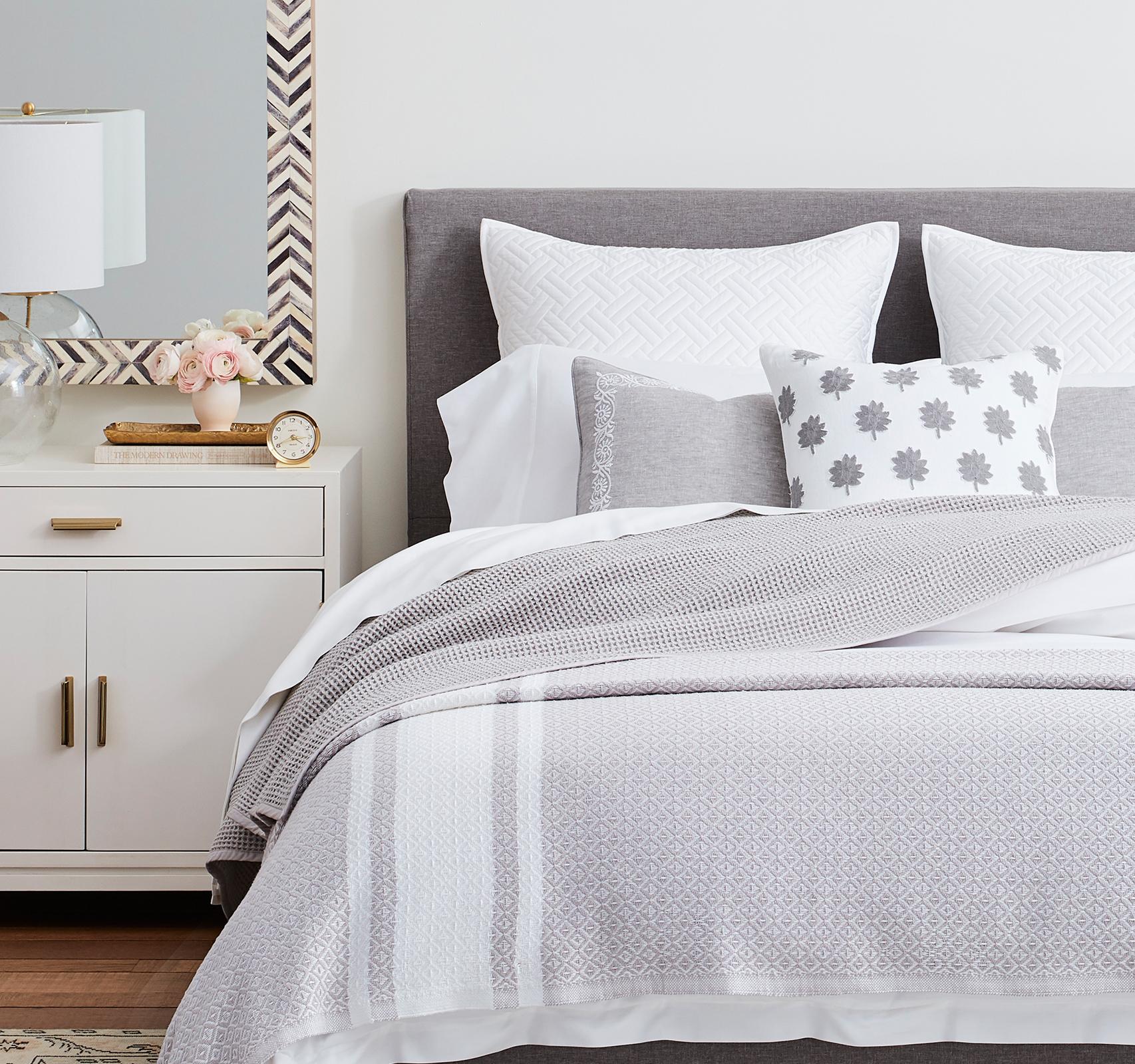 Pewter Textured Bedroom header image