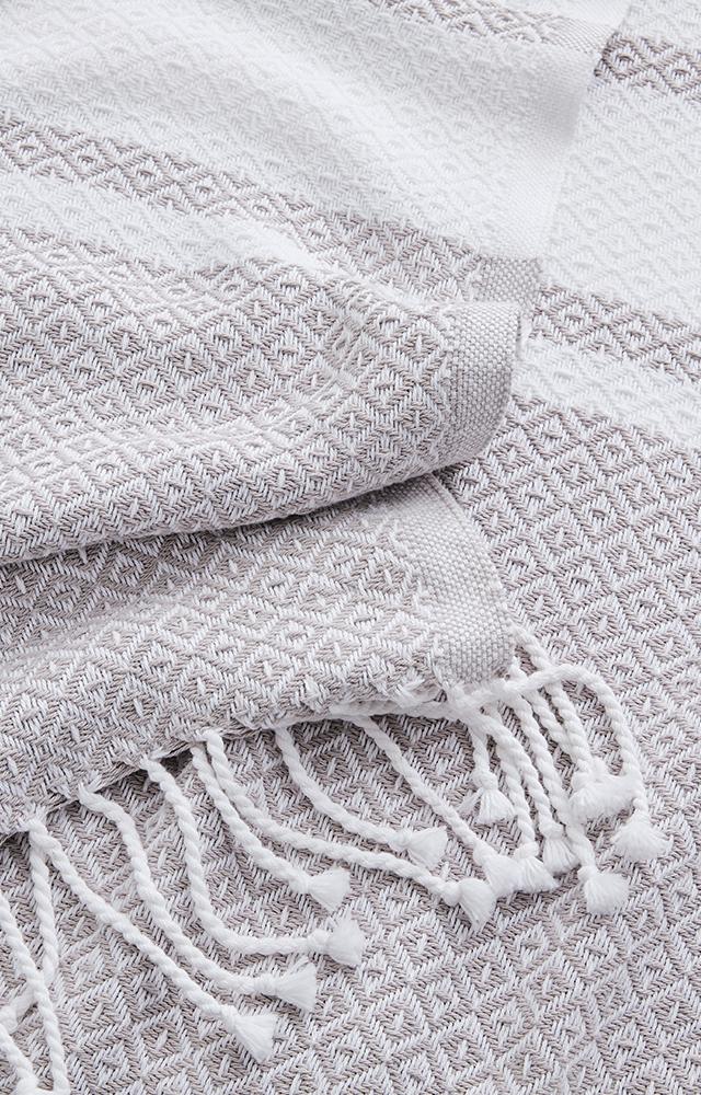 Pewter/White Adirondack Bed Blanket image
