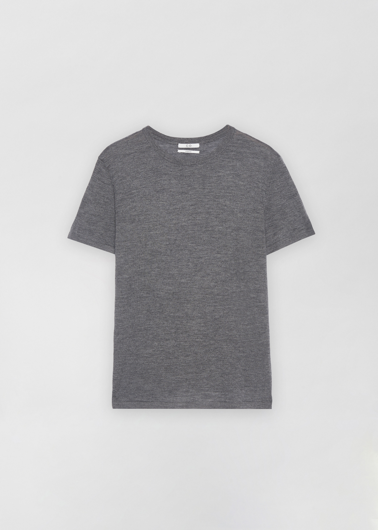 Cashmere T-Shirt - Black in Grey by Co Collections