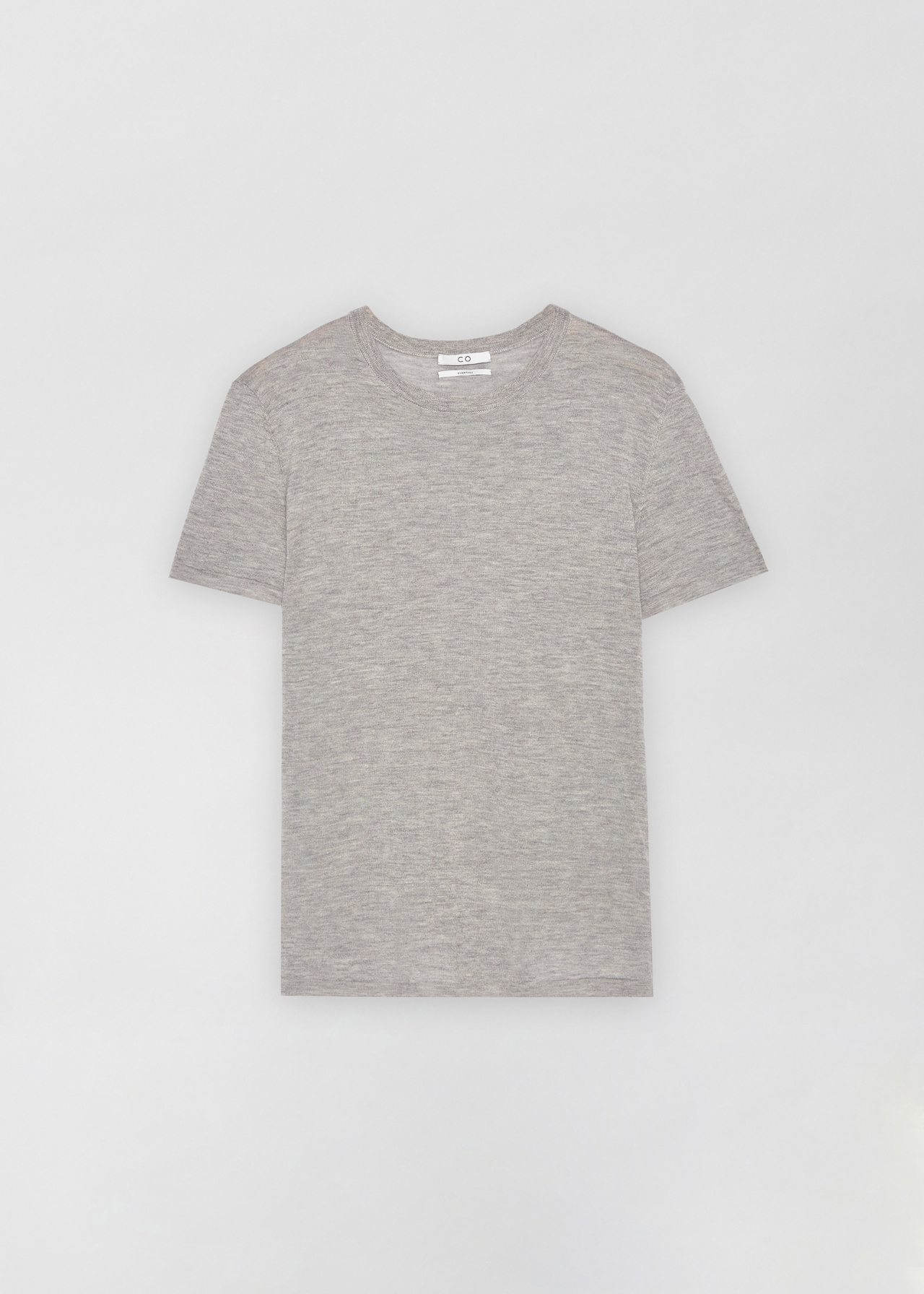Cashmere T-Shirt - Taupe in Heather by Co Collections