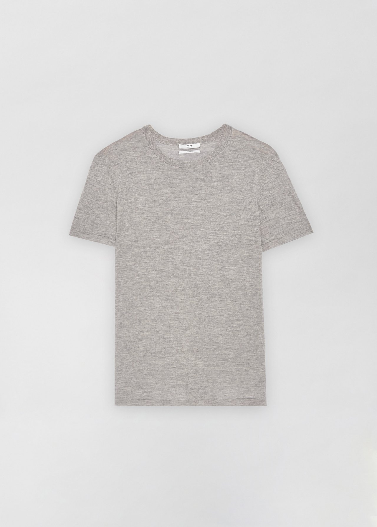 Cashmere T-Shirt - Grey in Heather by Co Collections