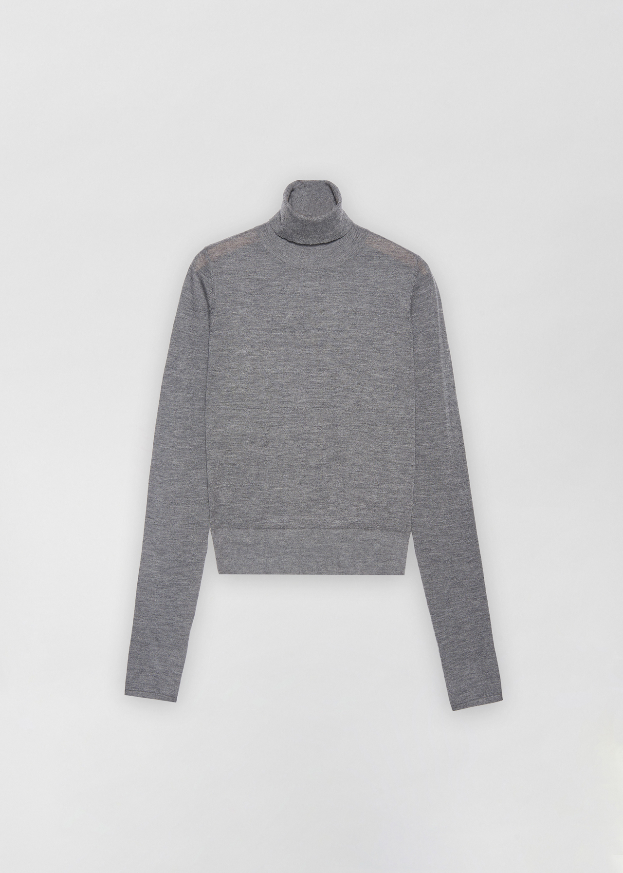 Fitted Cashmere Turtleneck - Grey - CO