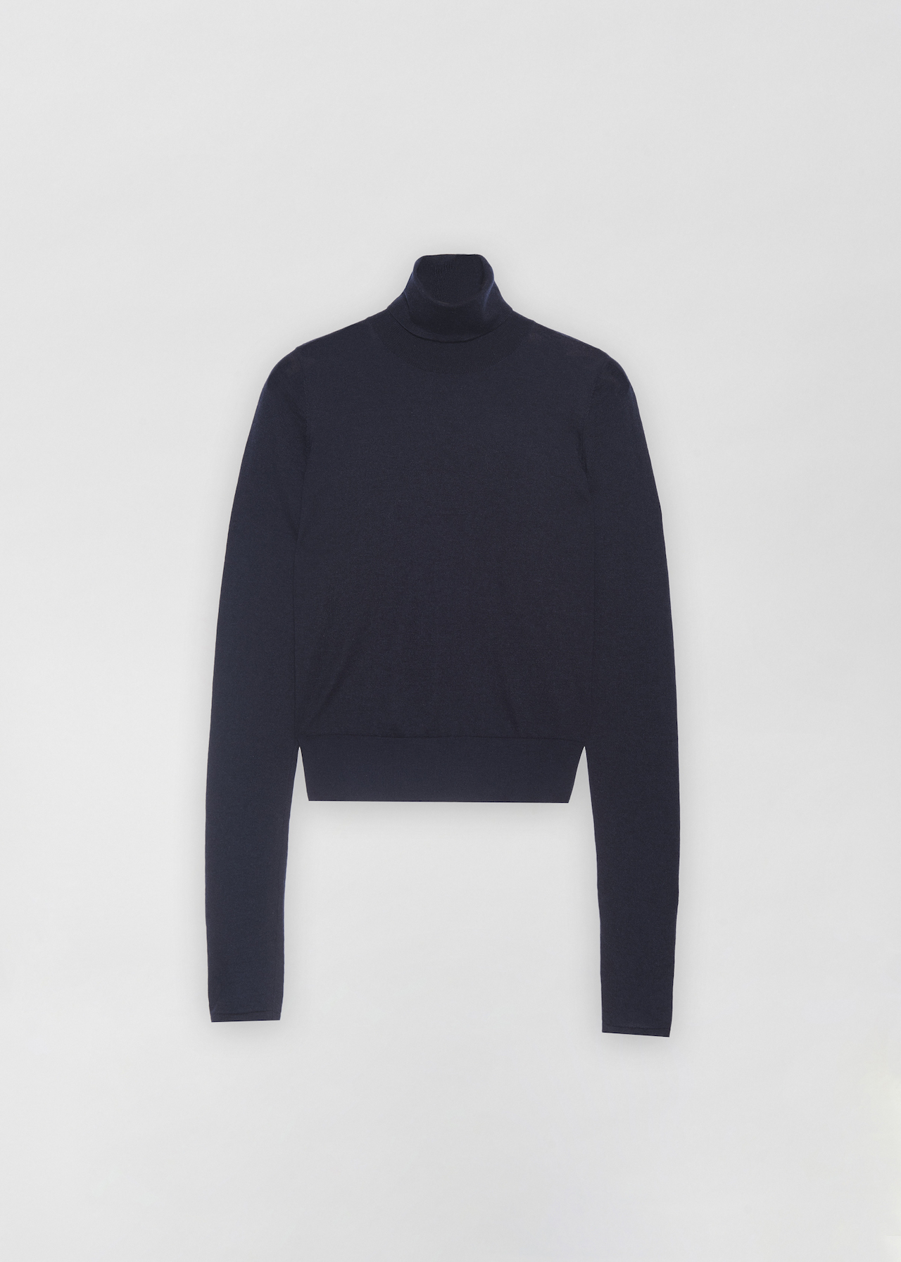 Fitted Cashmere Turtleneck - Black in Navy by Co Collections