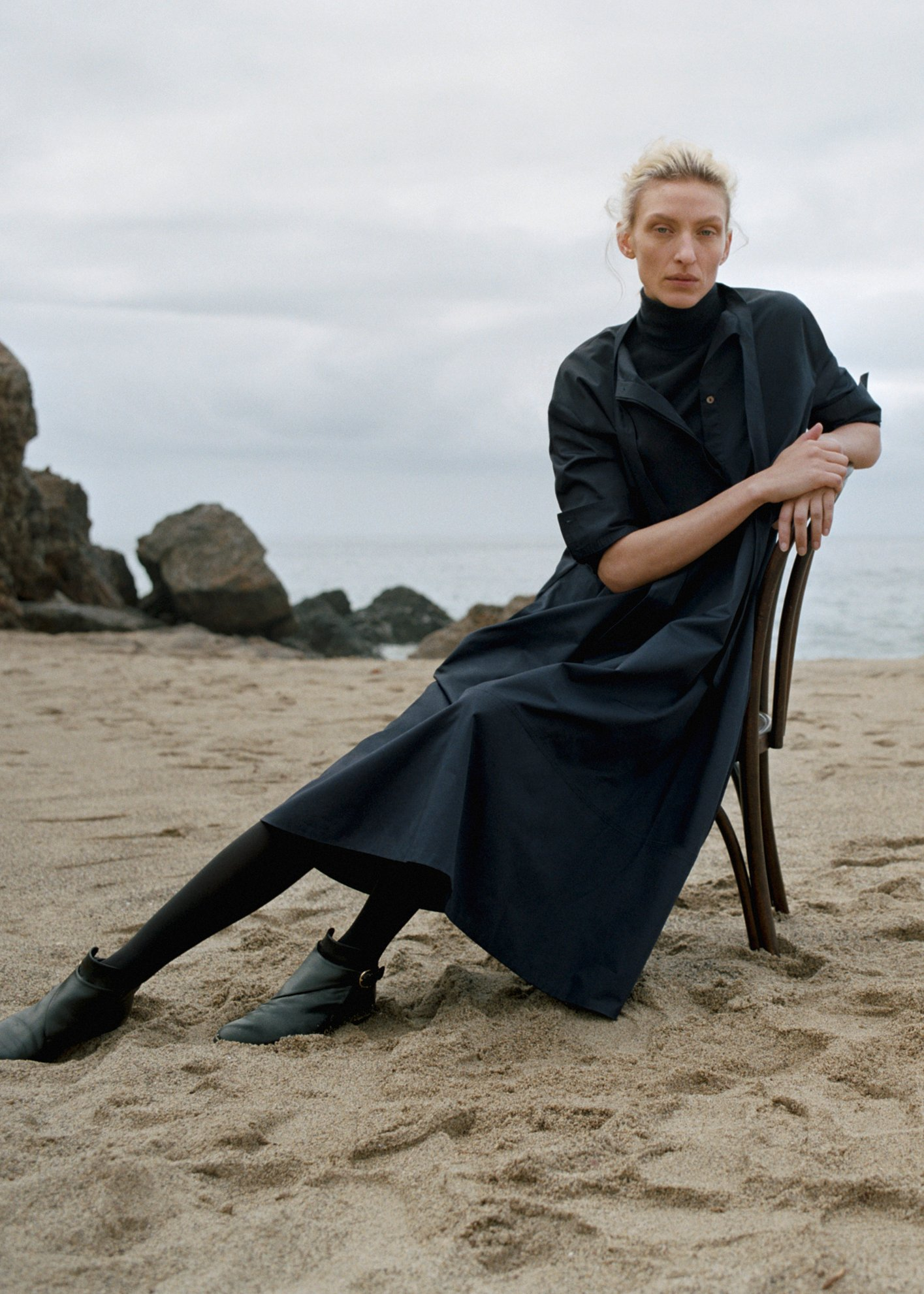 Fitted Cashmere Turtleneck - by Zoe Gherter for Co Collections