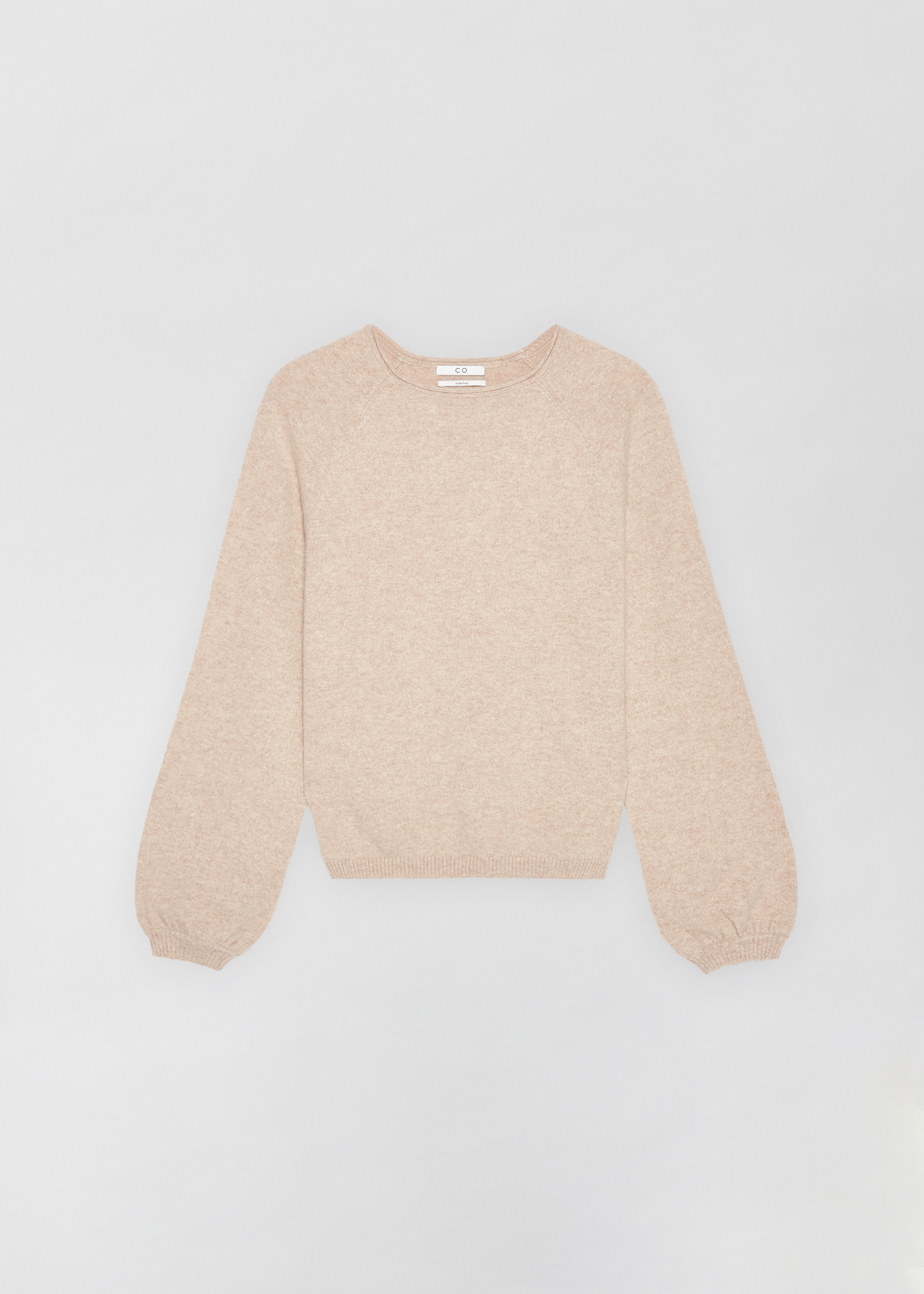 Raglan Peasant Sleeve Sweater - Sand Melange - CO