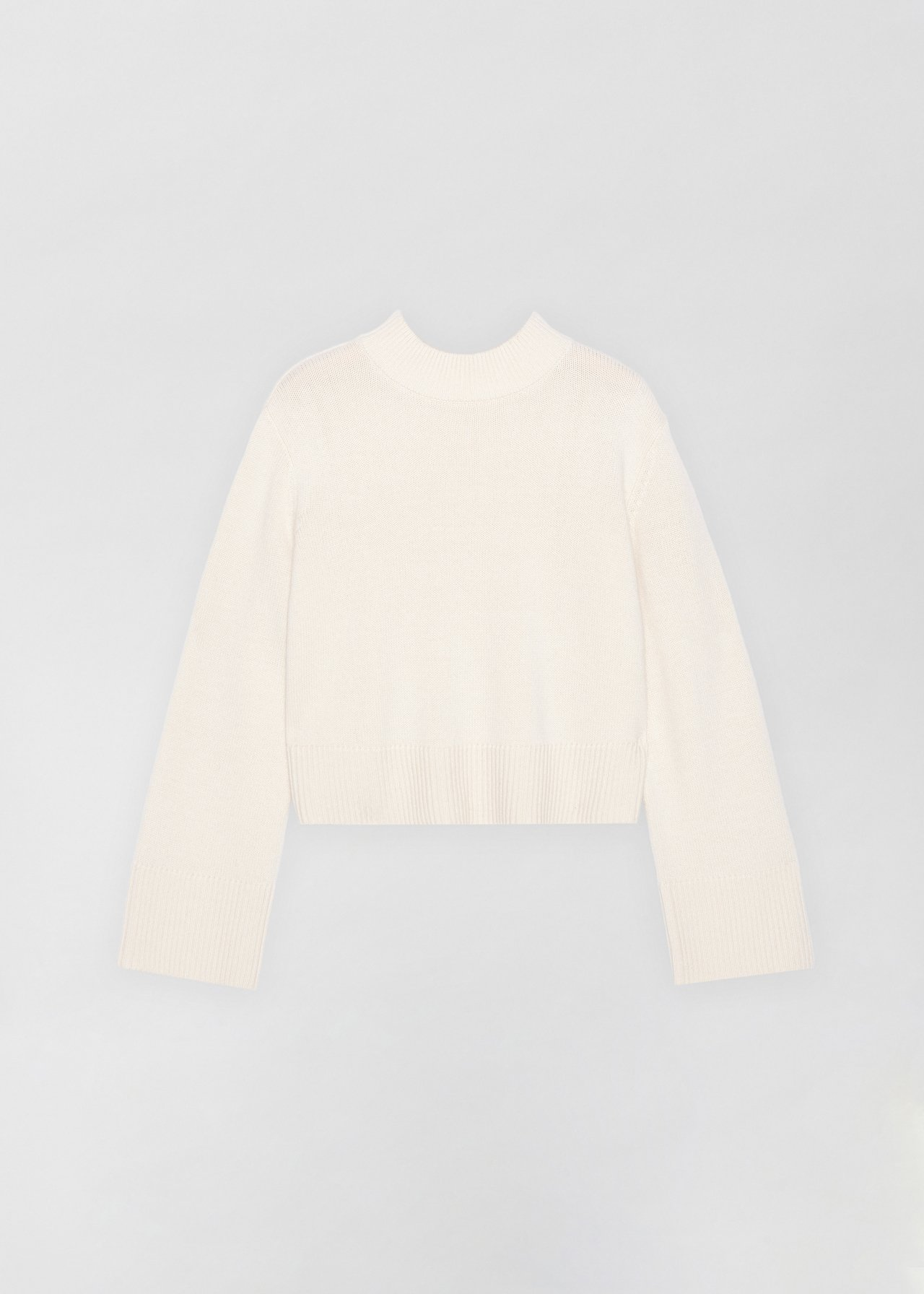 Boxy Crew Neck Sweater - Dove Grey in Ivory by Co Collections