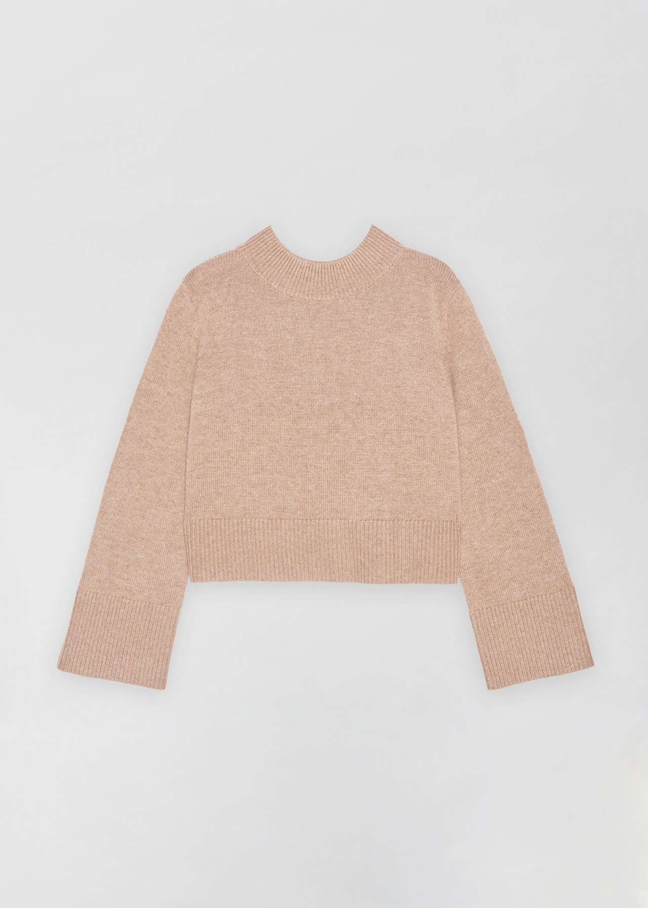 Boxy Crew Neck Sweater - Dove Grey in Taupe by Co Collections