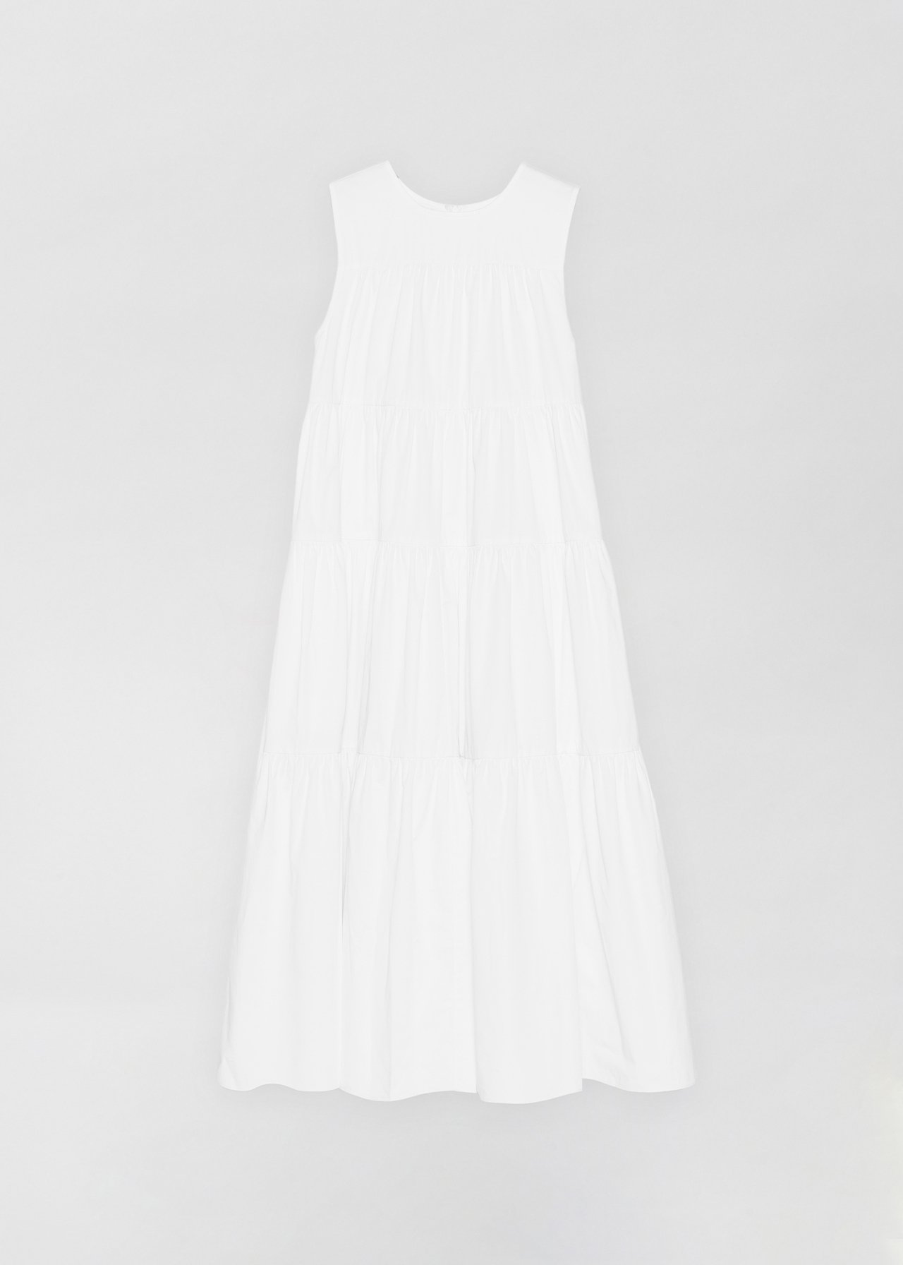 Sleeveless Tiered Dress - White - CO