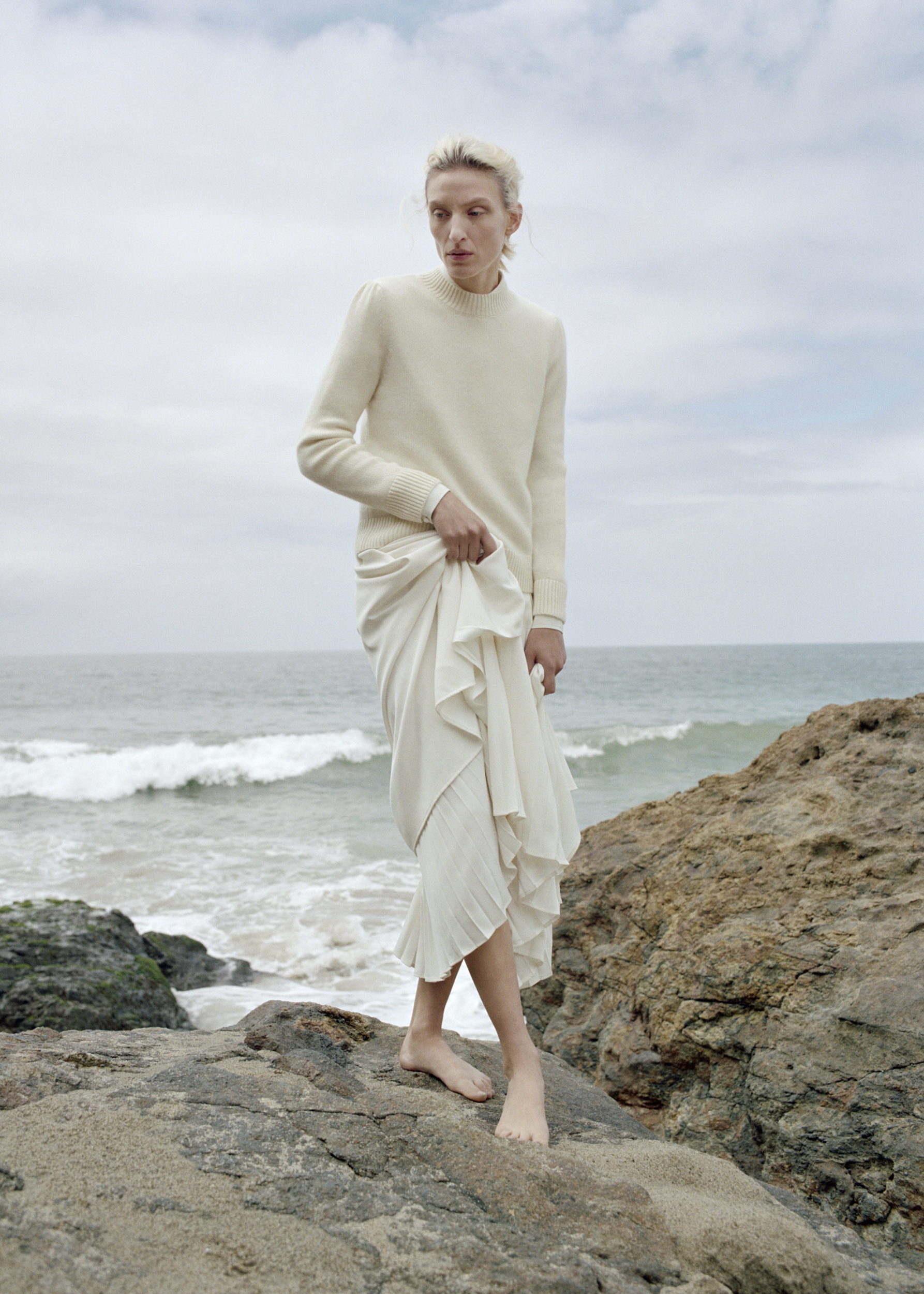 Long Shirt Dress - Ivory - by Zoe Gherter for Co Collections