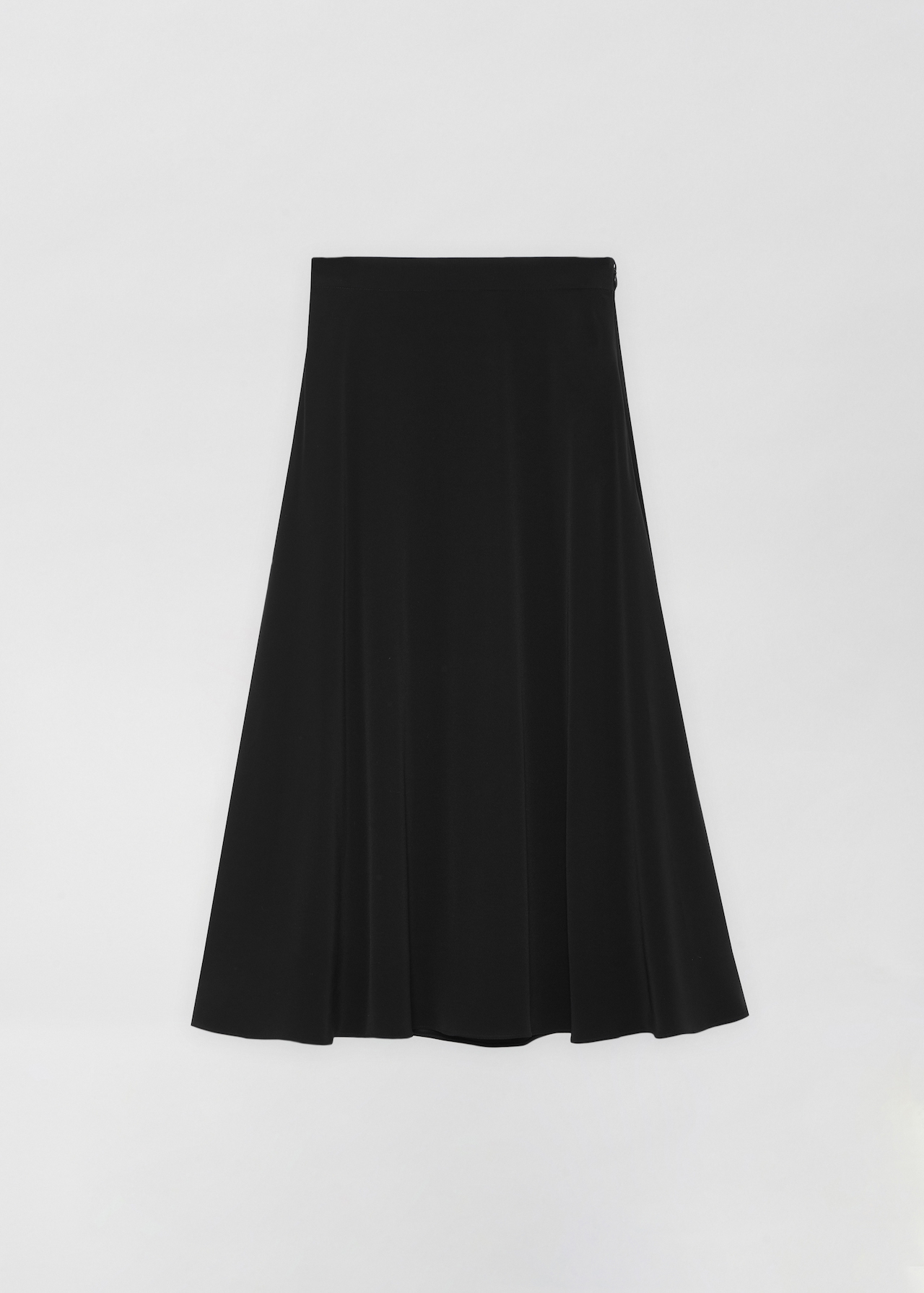 A-Line Skirt in Stretch Crepe - Ivory in Black by Co Collections