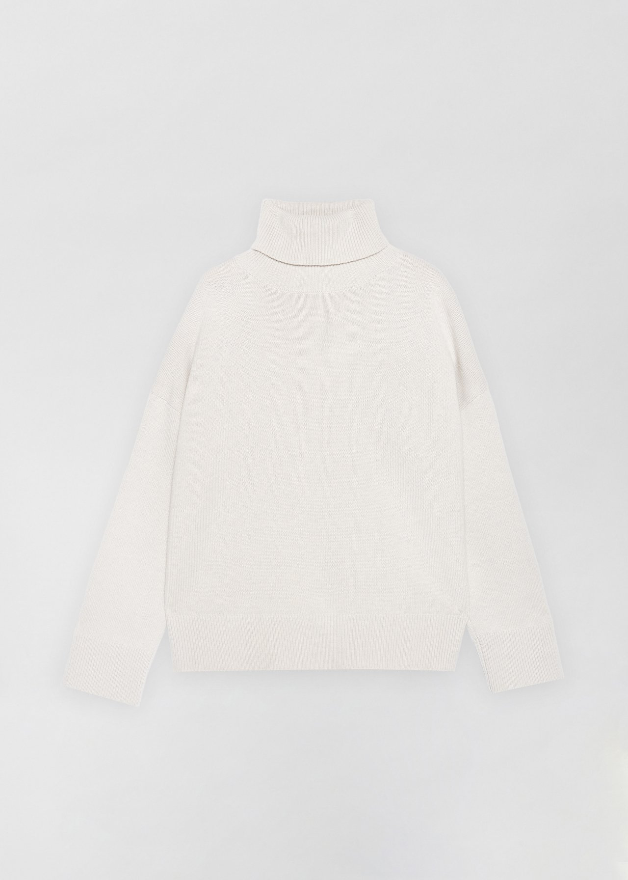 Boxy Turtleneck Sweater - Grey in Dove Grey by Co Collections