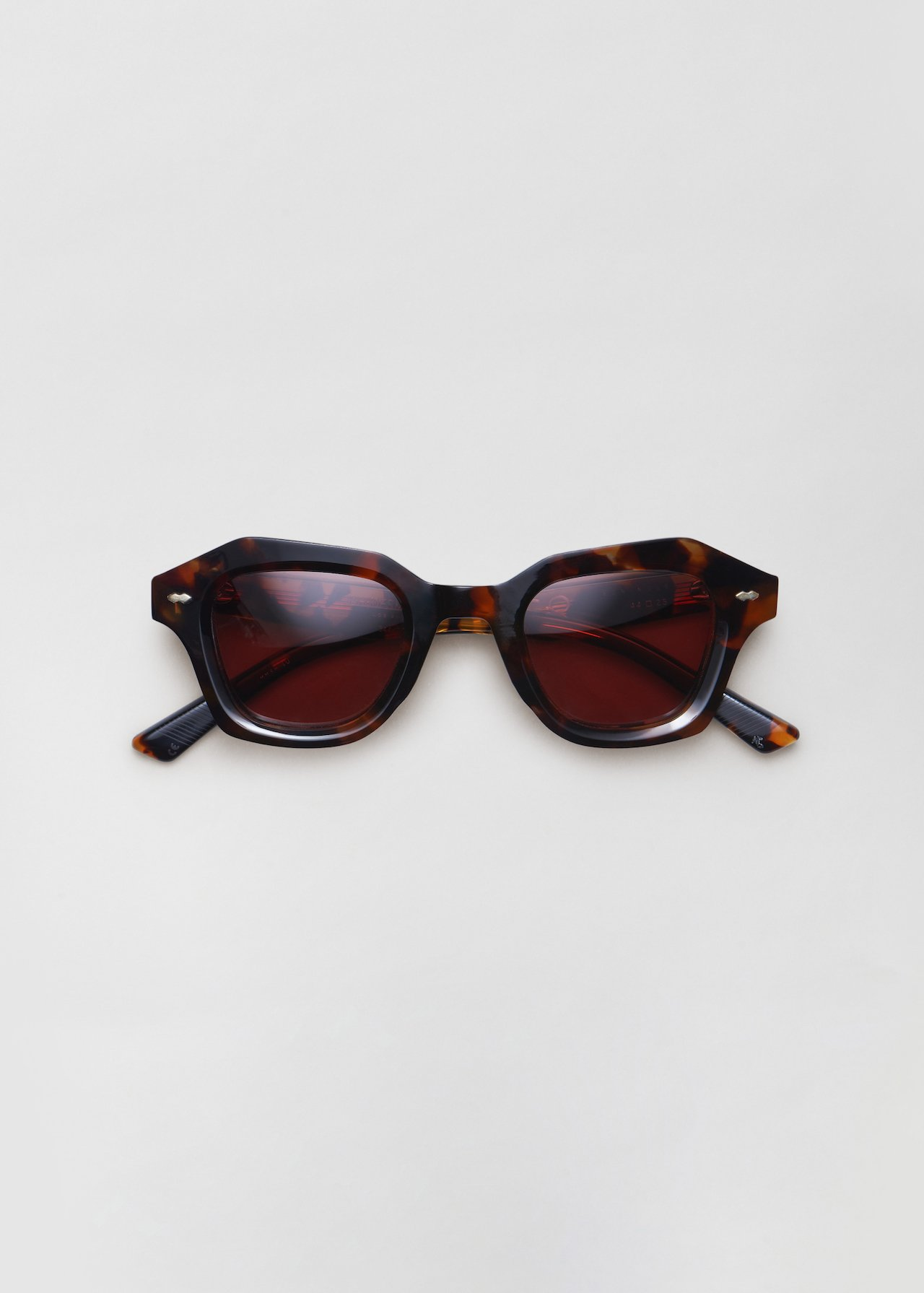 Schindler Sunglasses in Noir in Lava by Co Collections