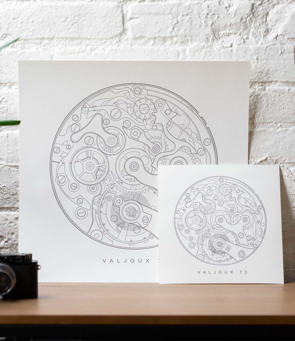 Valjoux 72 Letterpress Print