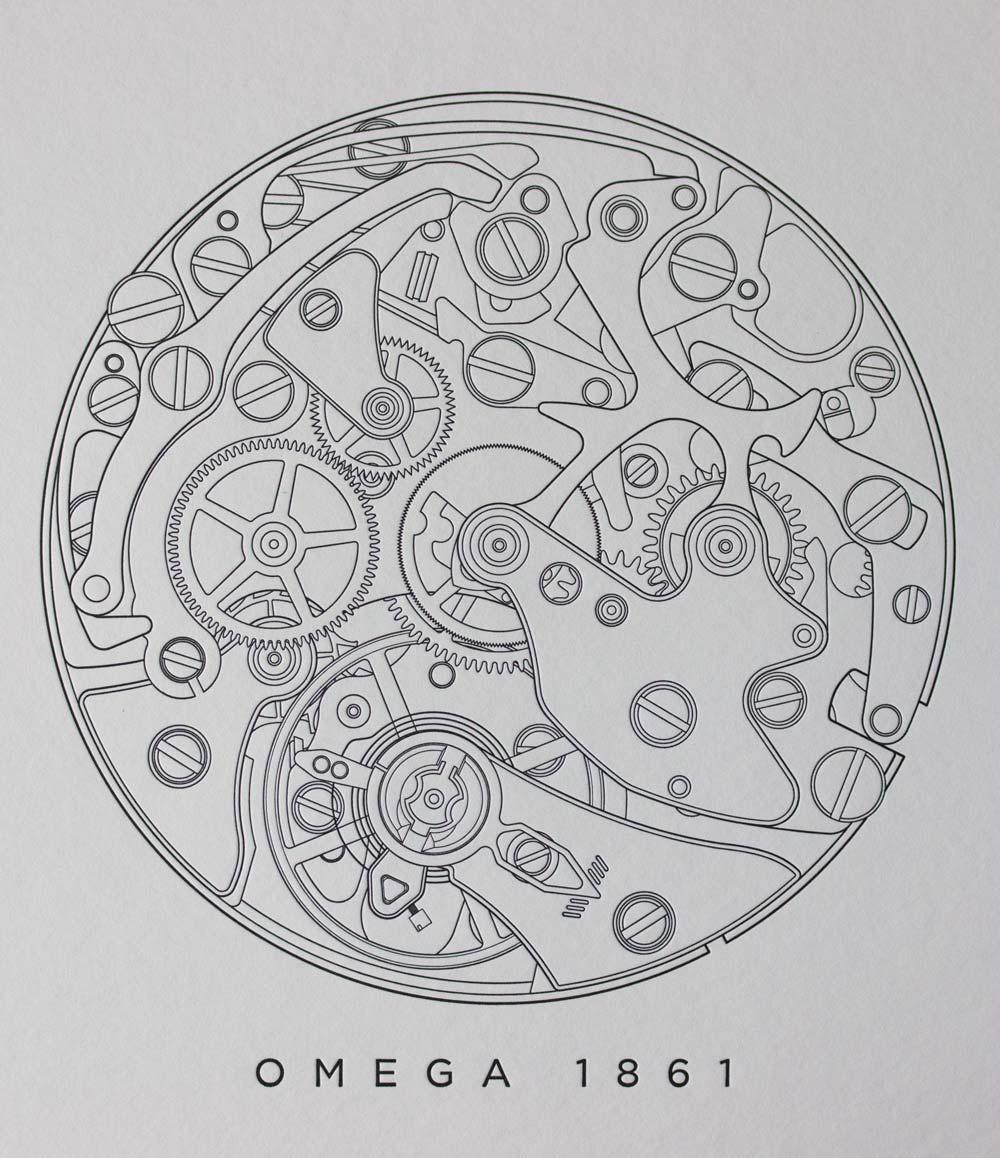 Omega 1861 Letterpress Print