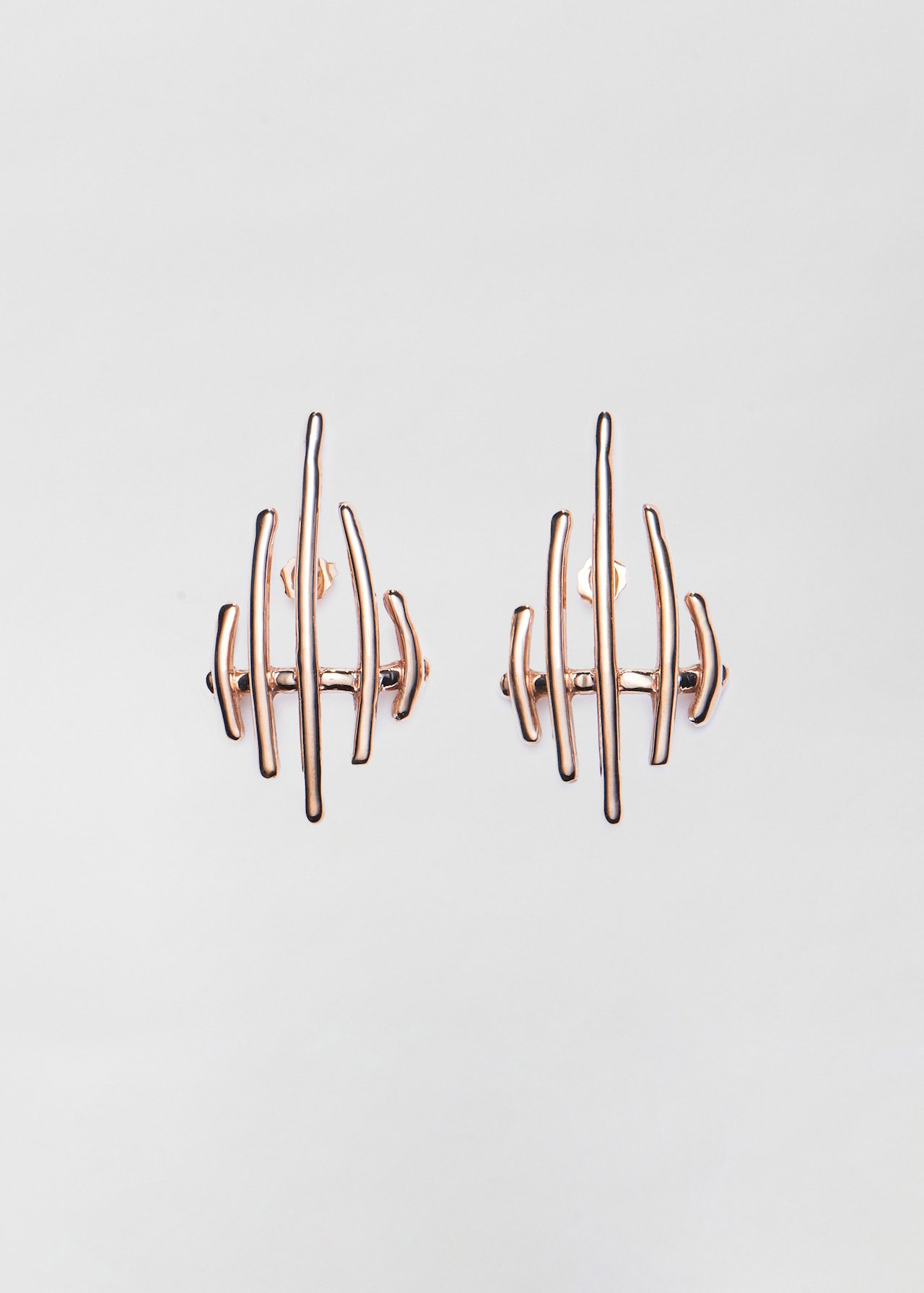 Sculptural Earrings in Bronze - Co Collections