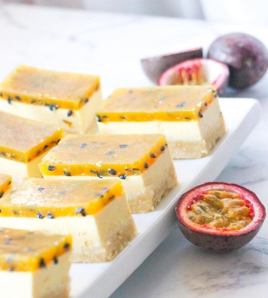 Lizzie's passionfruit collagen cheesecake
