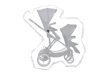ideal for strollin' with 2