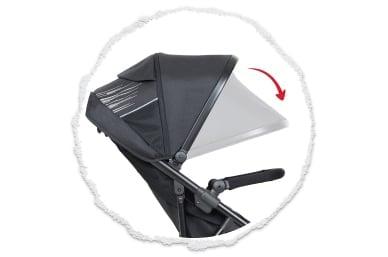 expansivo UPF50+ protección de la capucha del sol con un peek-a-boo
