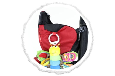 pockets galore with toys in tow!
