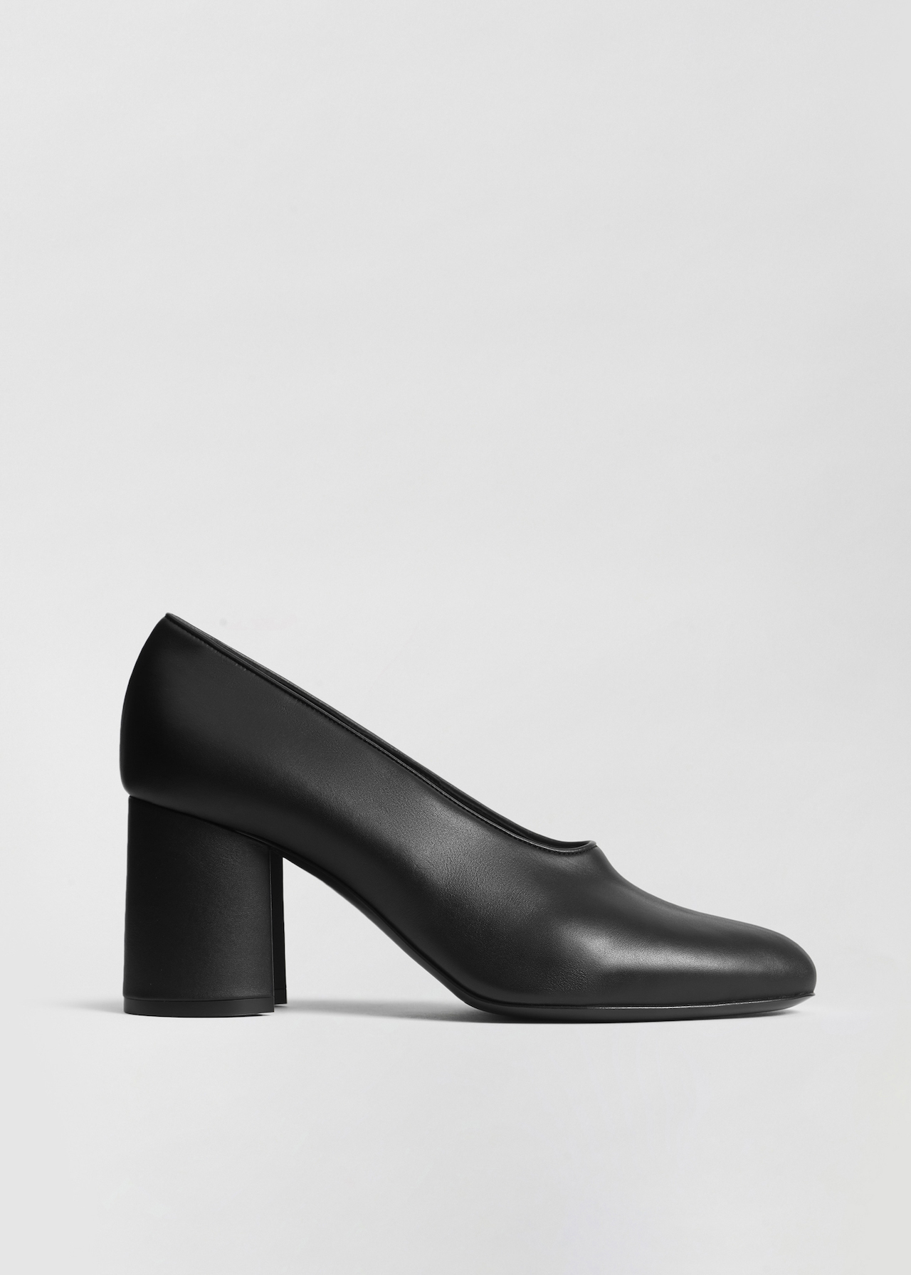 Classic Pump in Smooth Leather - Black - Co Collections