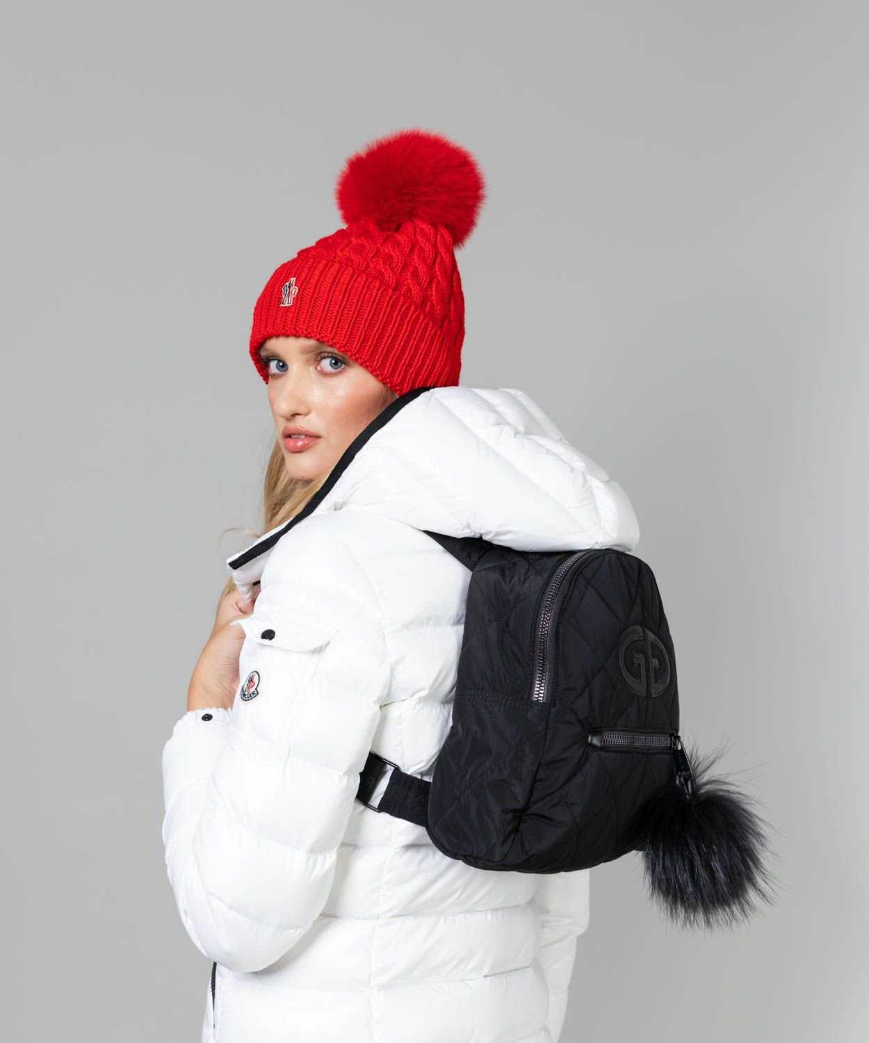 Nagisa Bag with Fur Pom Pom