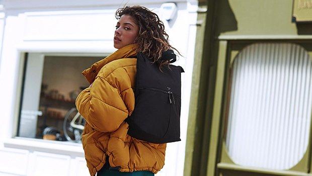 "KNOMO Reykjavik Laptop Tote Backpack - 15"" Lifestyle Image | knomo.com"