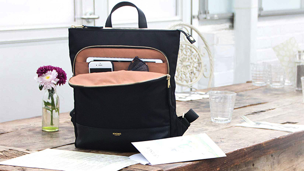 "KNOMO Harewood Laptop Tote Backpack - 15"" Lifestyle Image 