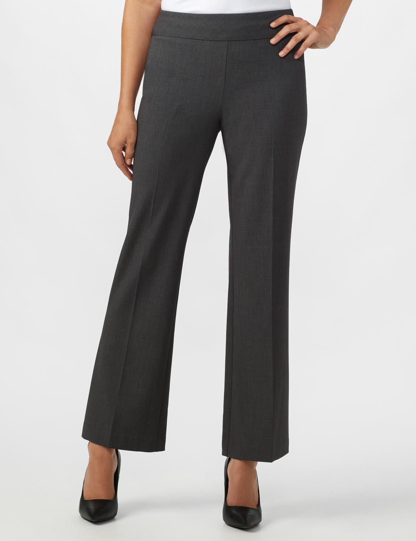 Secret Agent Tummy Control Pants - Average Length -grey - Front