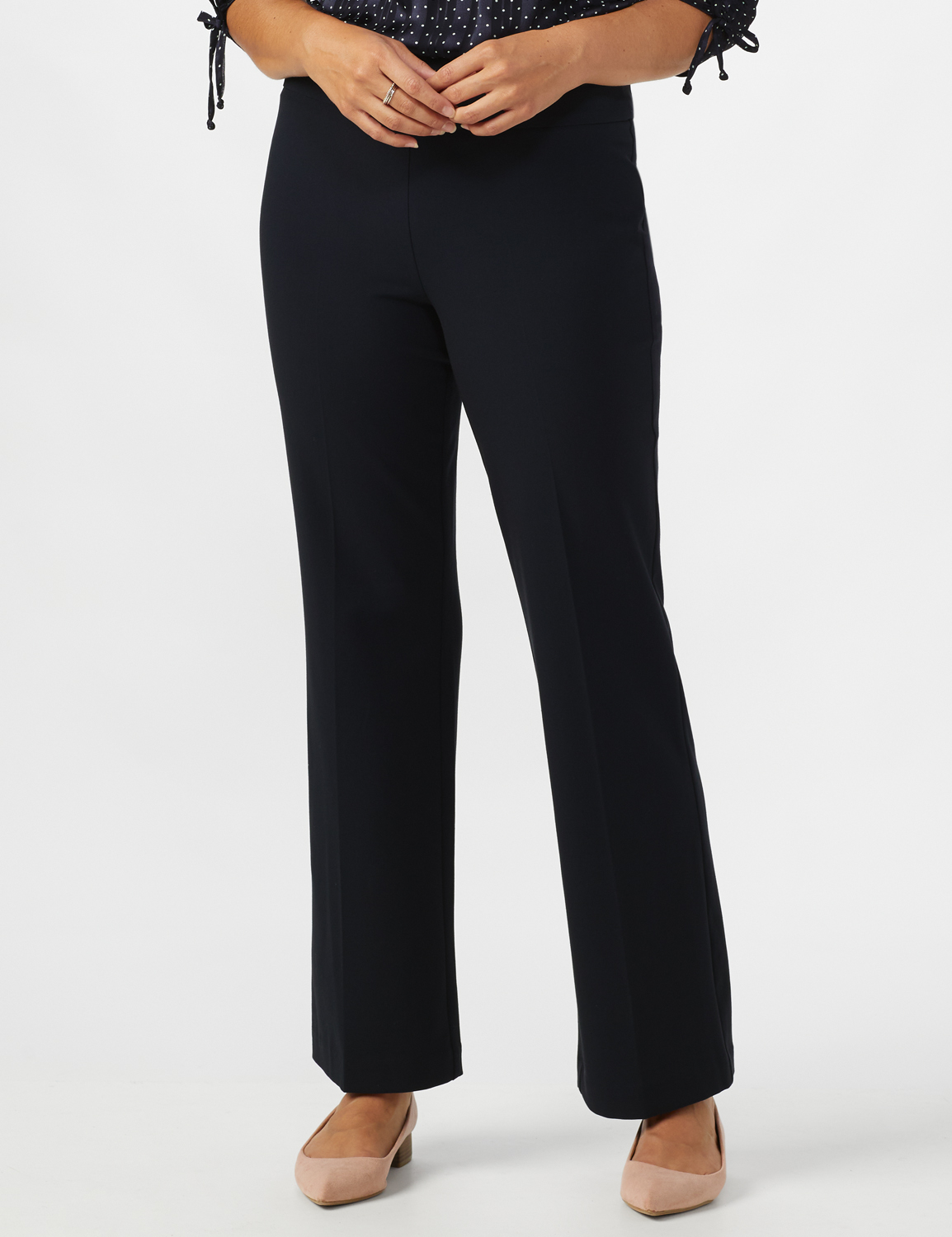 Secret Agent Tummy Control Pants - Average Length -Navy - Front